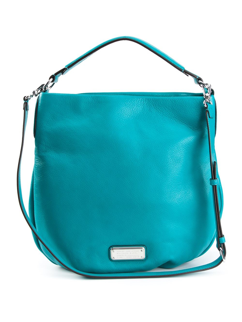 marc by marc new q hillier leather hobo bag in blue