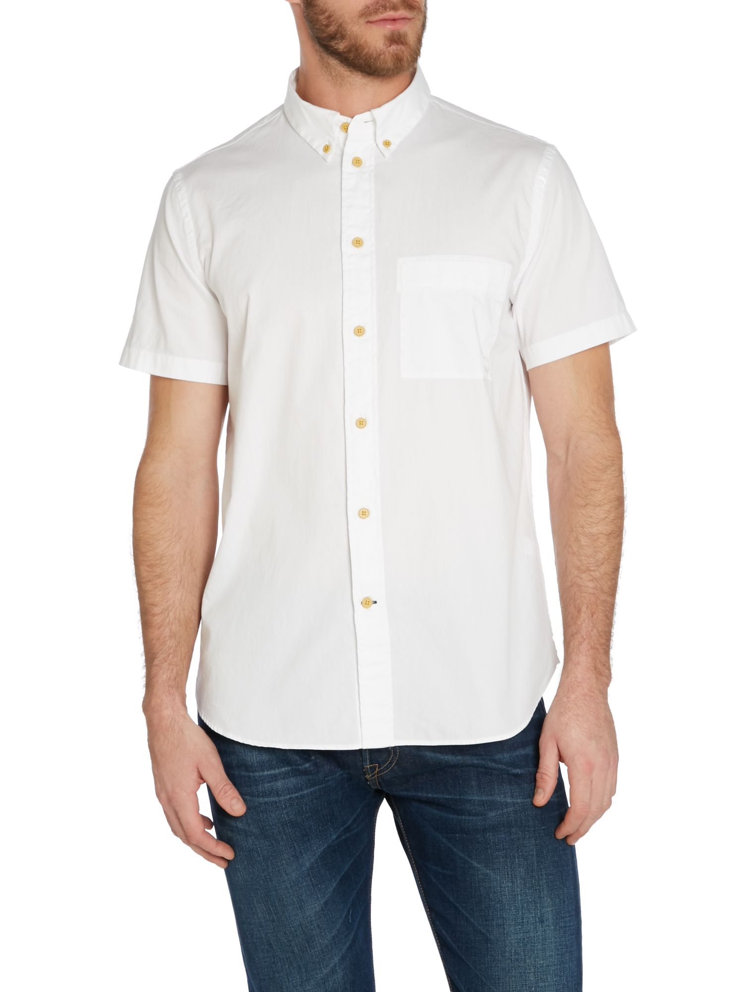 Paul Smith Plain Classic Fit Short Sleeve Button Down