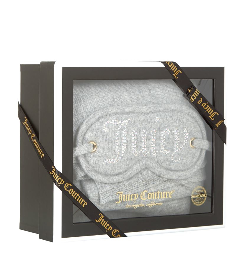 Juicy Couture Cashmere Eye Mask And Blanket Gift Set in Gray - Lyst c8ac1acb1