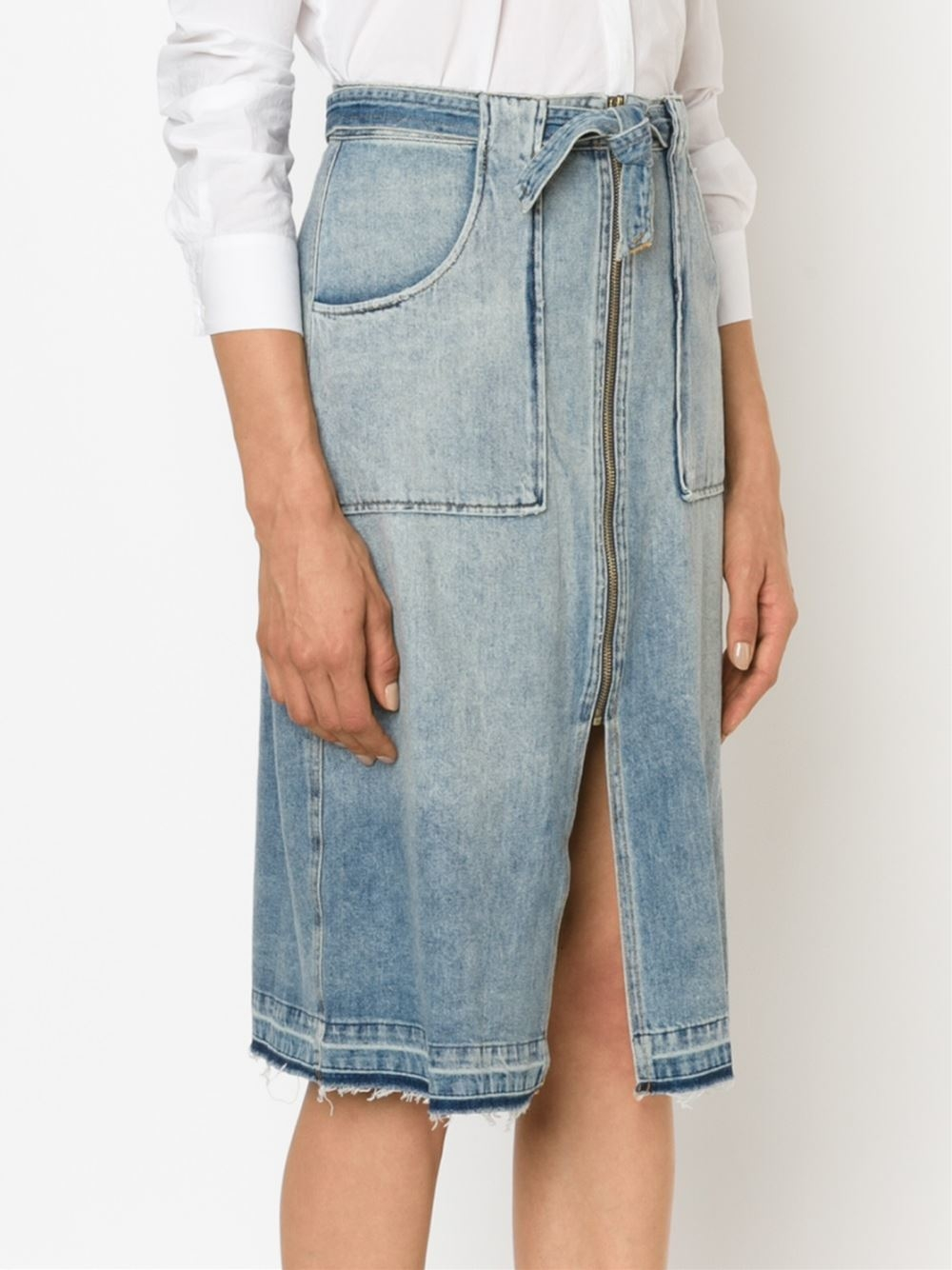 sea denim zip skirt in blue lyst