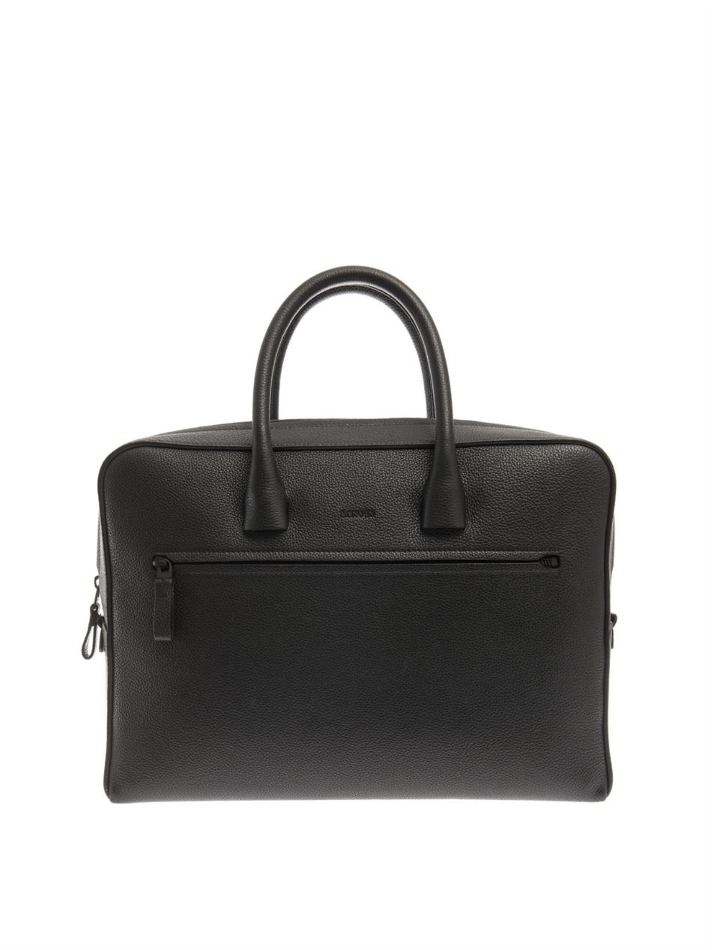 8deb170aaee1 Lyst - Lanvin Leather Briefcase in Black for Men