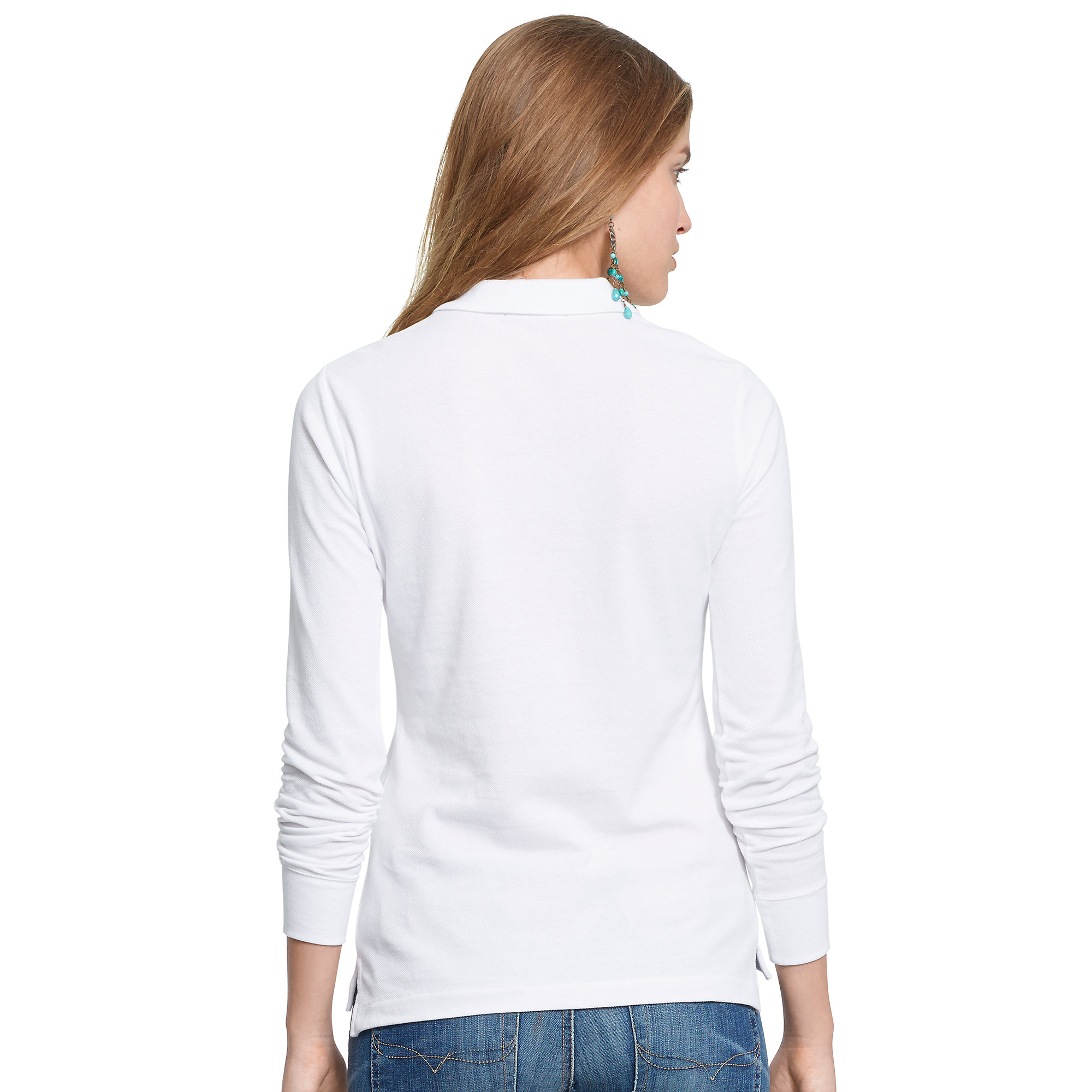 Polo Ralph Lauren | White Skinny-fit Big Pony Polo | Lyst. View Fullscreen