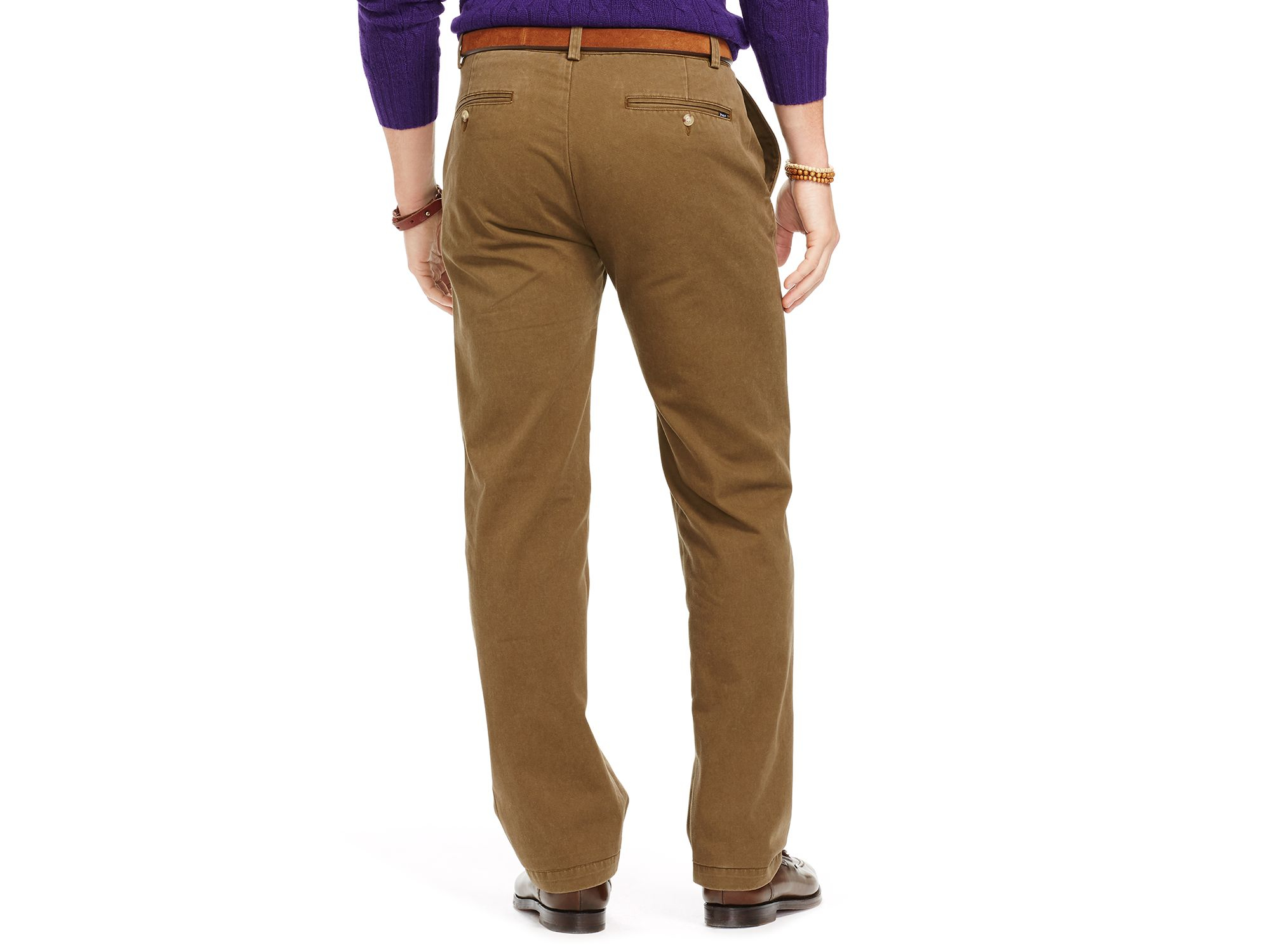Ralph lauren Polo Straight Fit Chino Pants in Green for Men | Lyst
