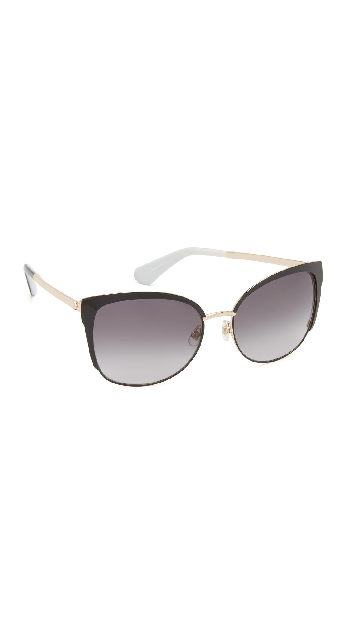 Lyst Kate Spade New York Genice Sunglasses In Black