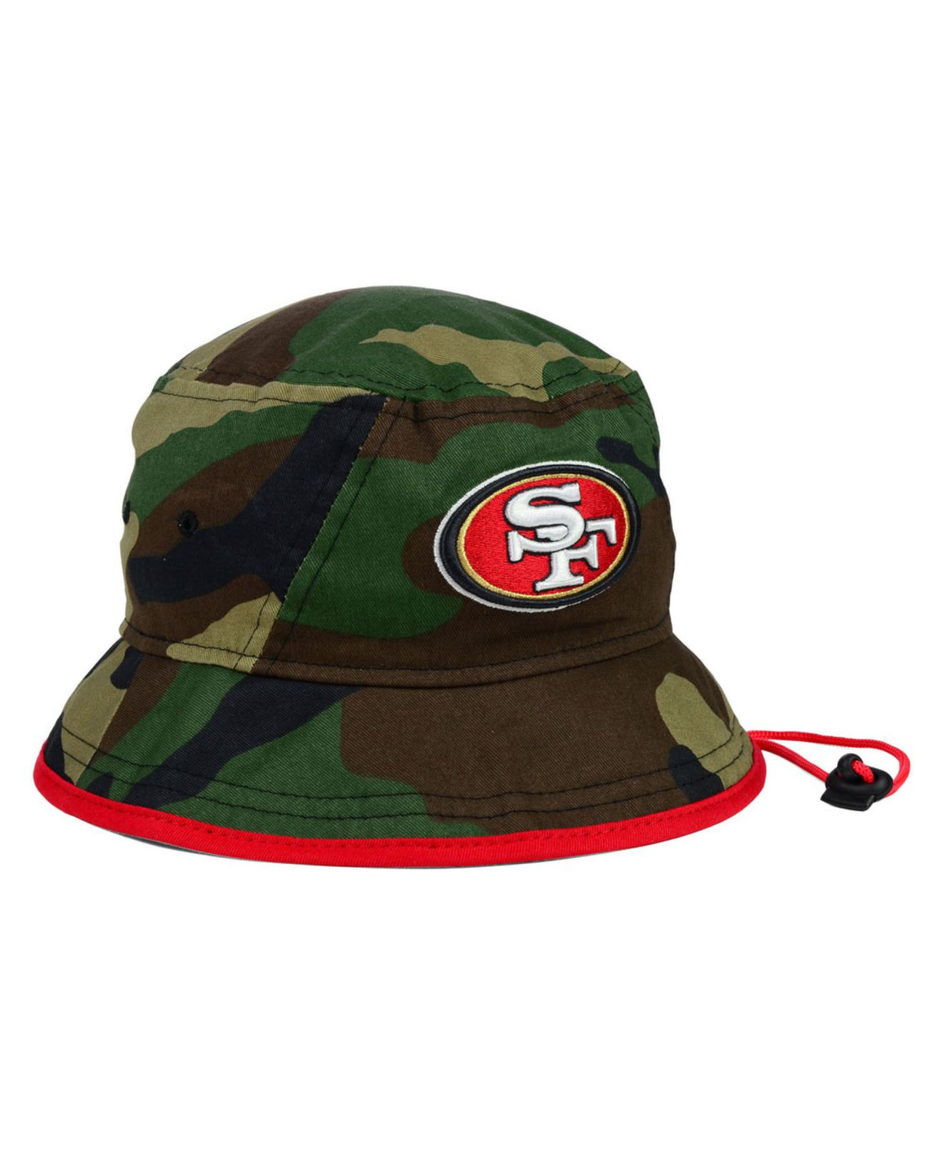 524acfca30d25 ... low cost lyst ktz san francisco 49ers camo pop bucket hat in green for  men fcc34