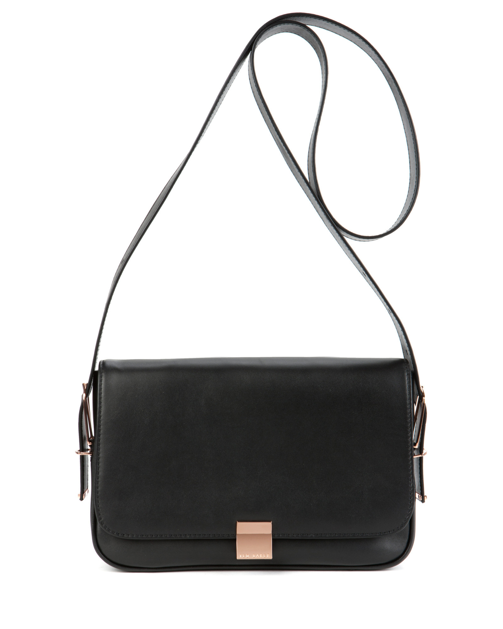 Ted baker Leather Sling Bag in Black | Lyst