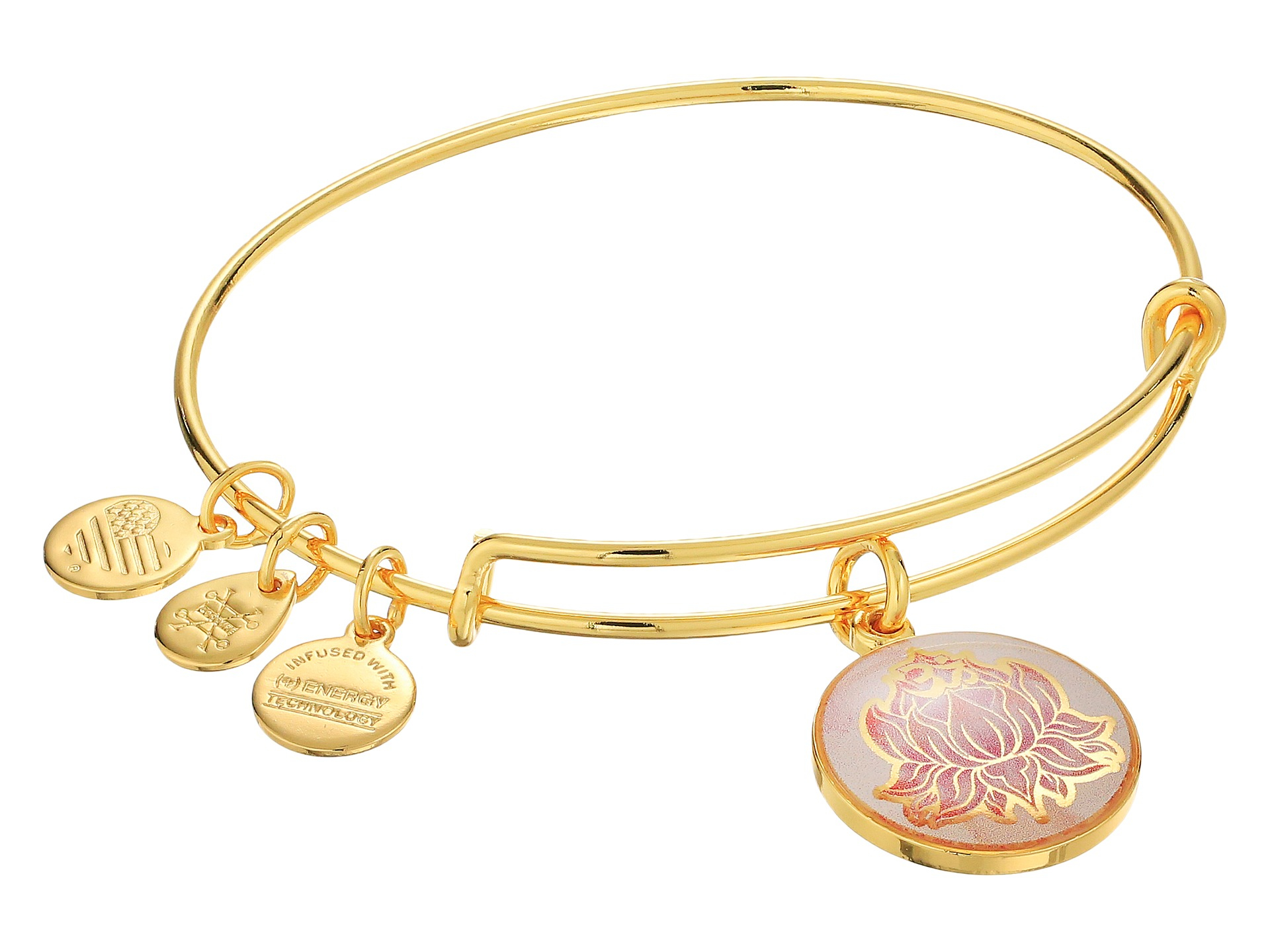 Alex And Ani Art Infusion Lotus Peace Petals Bracelet In Pink Lyst