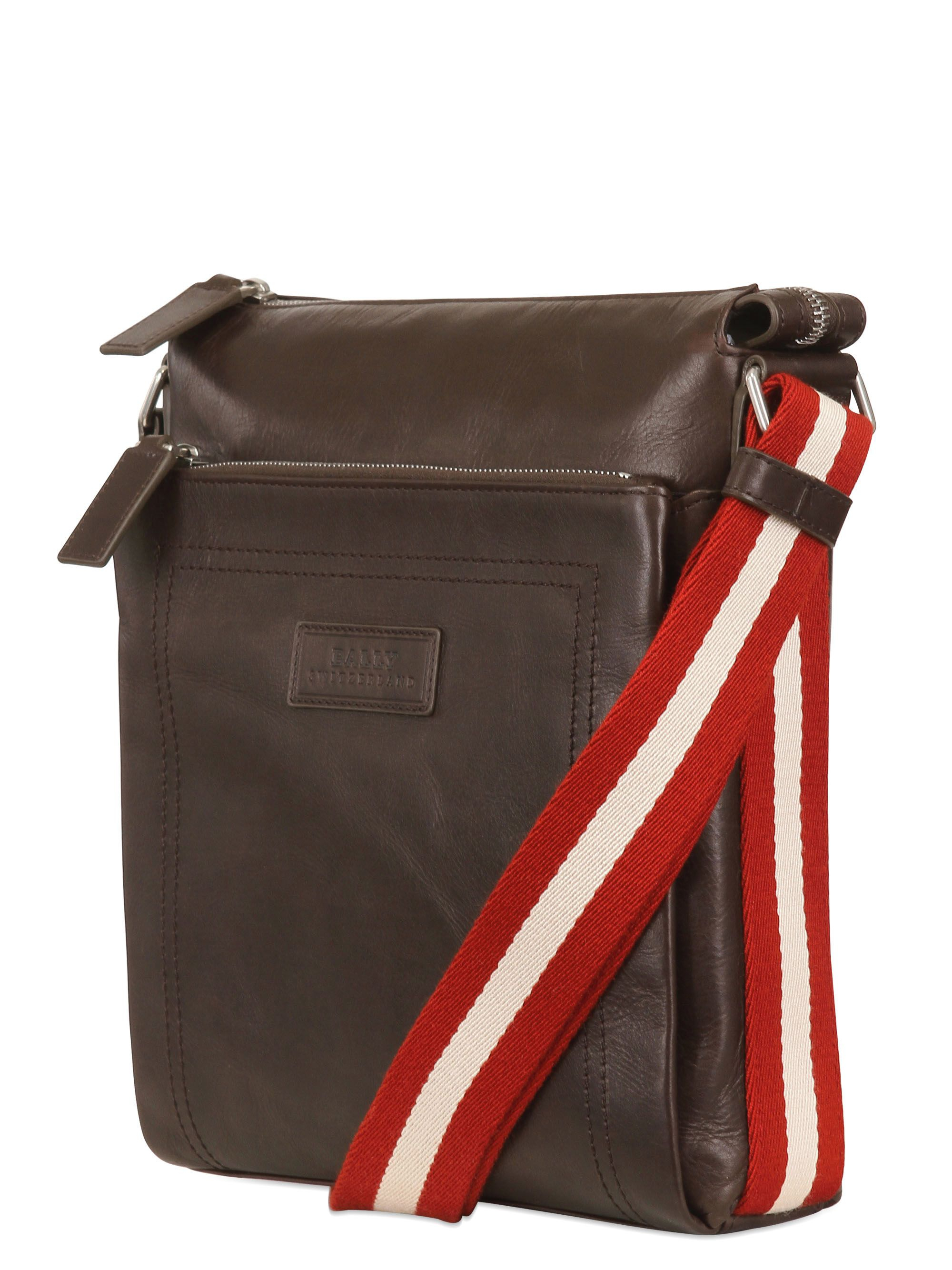 bally leather crossbody bag in brown