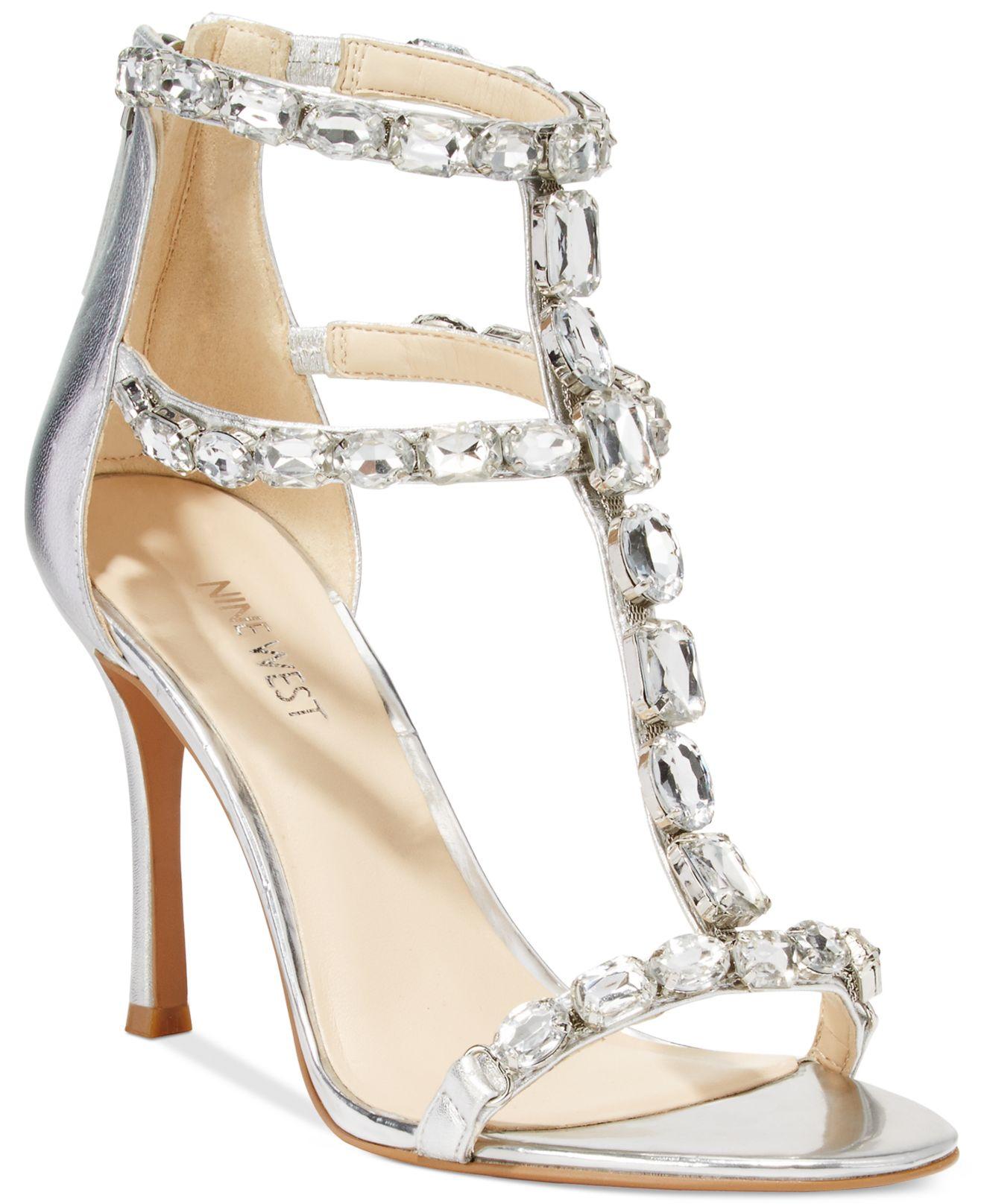 304f57f45c9 Lyst - Nine West Fresh3 Evening Sandals in Metallic