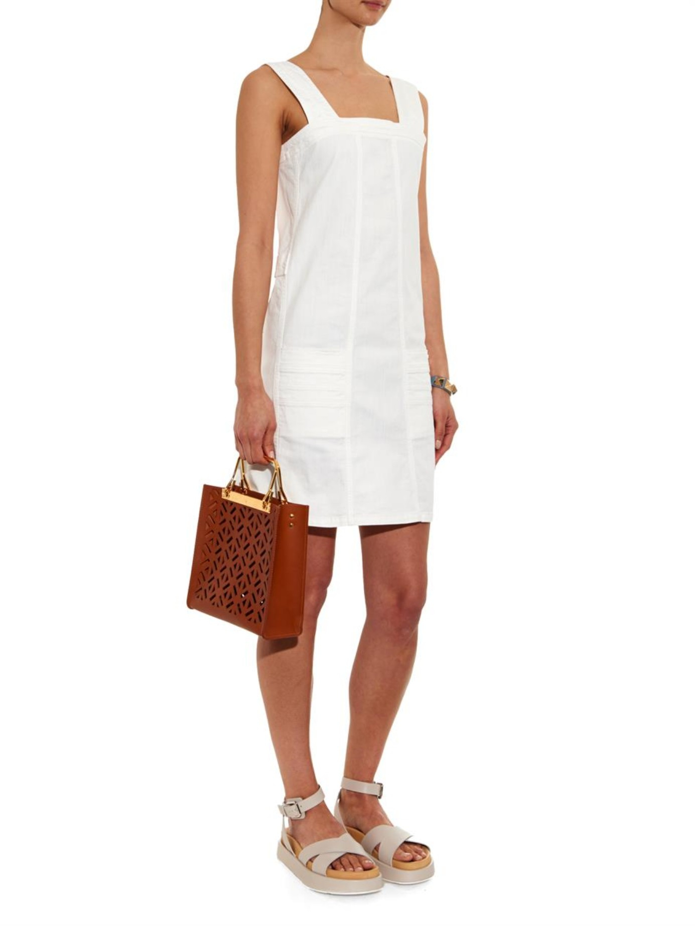 Pinafore dress - Brown See By Chloé Free Shipping Lowest Price Sast Cheap Price Clearance Official KI3x02a