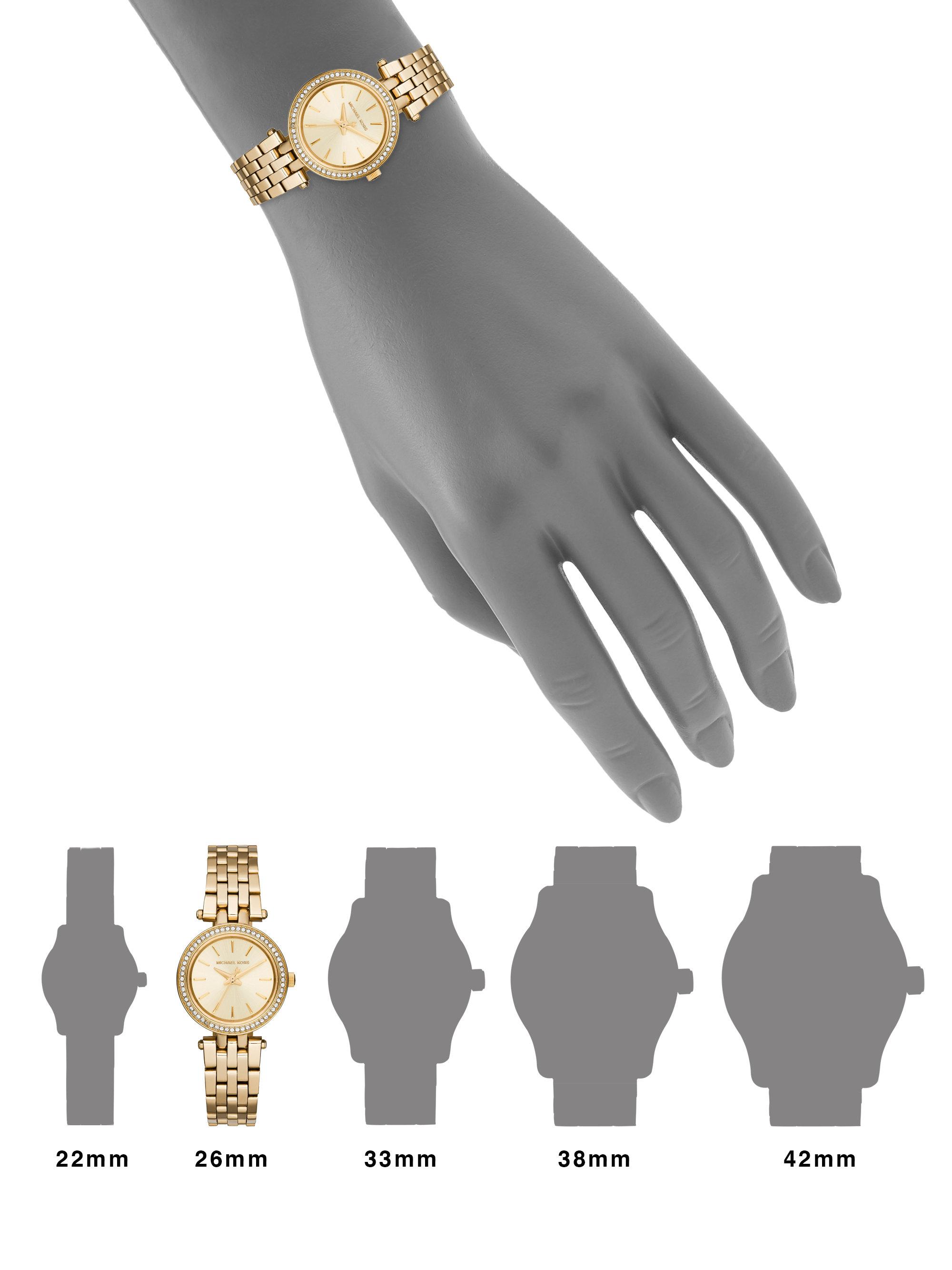 b8b71baecfed Lyst - Michael Kors Darci Petite MK3295 Stainless-Steel Watch in ...