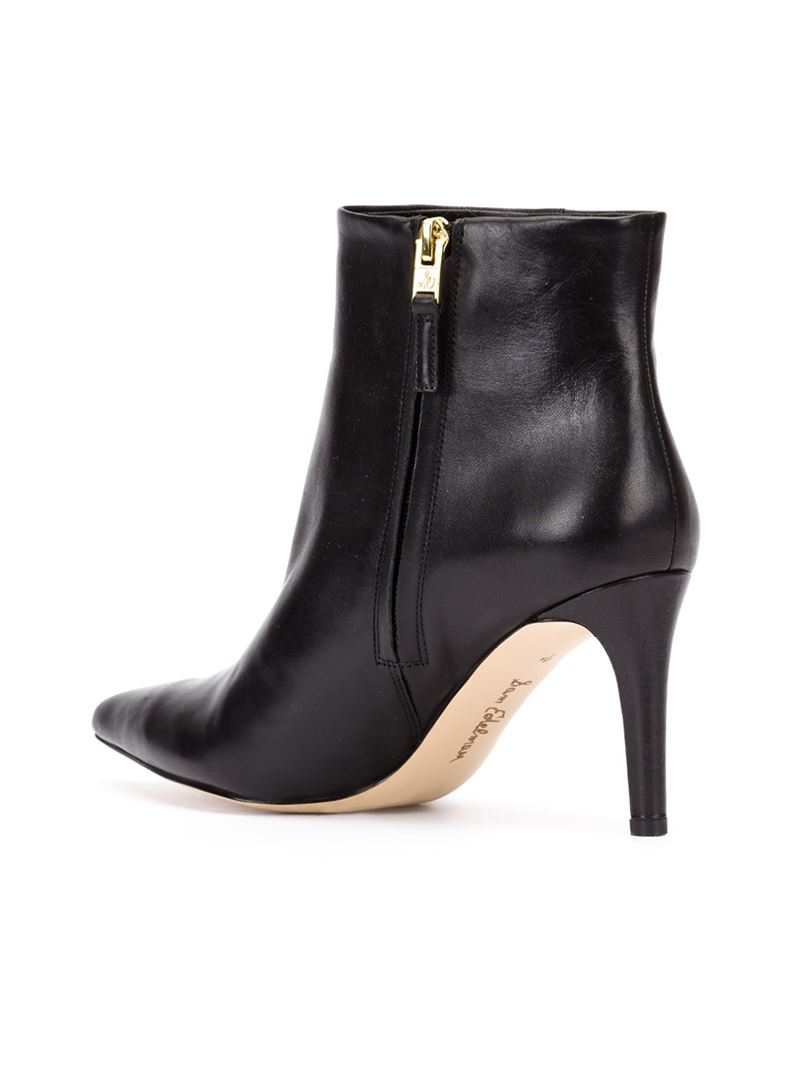 sam edelman leather boots in black lyst