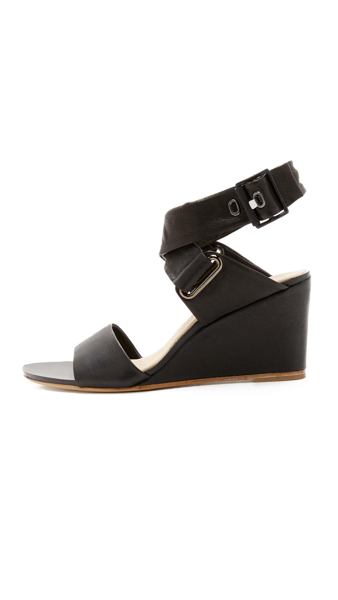 Rag & Bone Black Moon Buckle Sandals WawjZjV