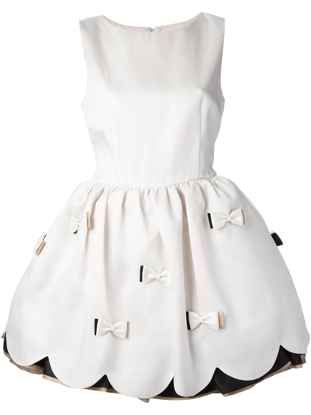 lyst red valentino bow detail dress in white
