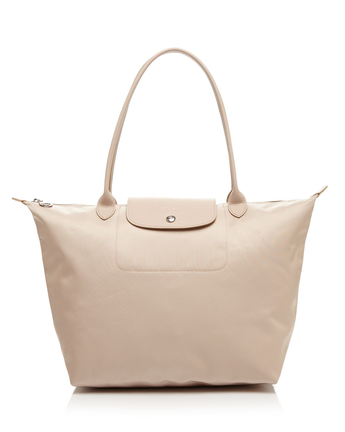 Sac Longchamp Pliage Beige : Longchamp tote le pliage neo large in natural lyst