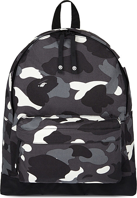 A Bathing Ape City Camouflage Medium Backpack In Black Lyst