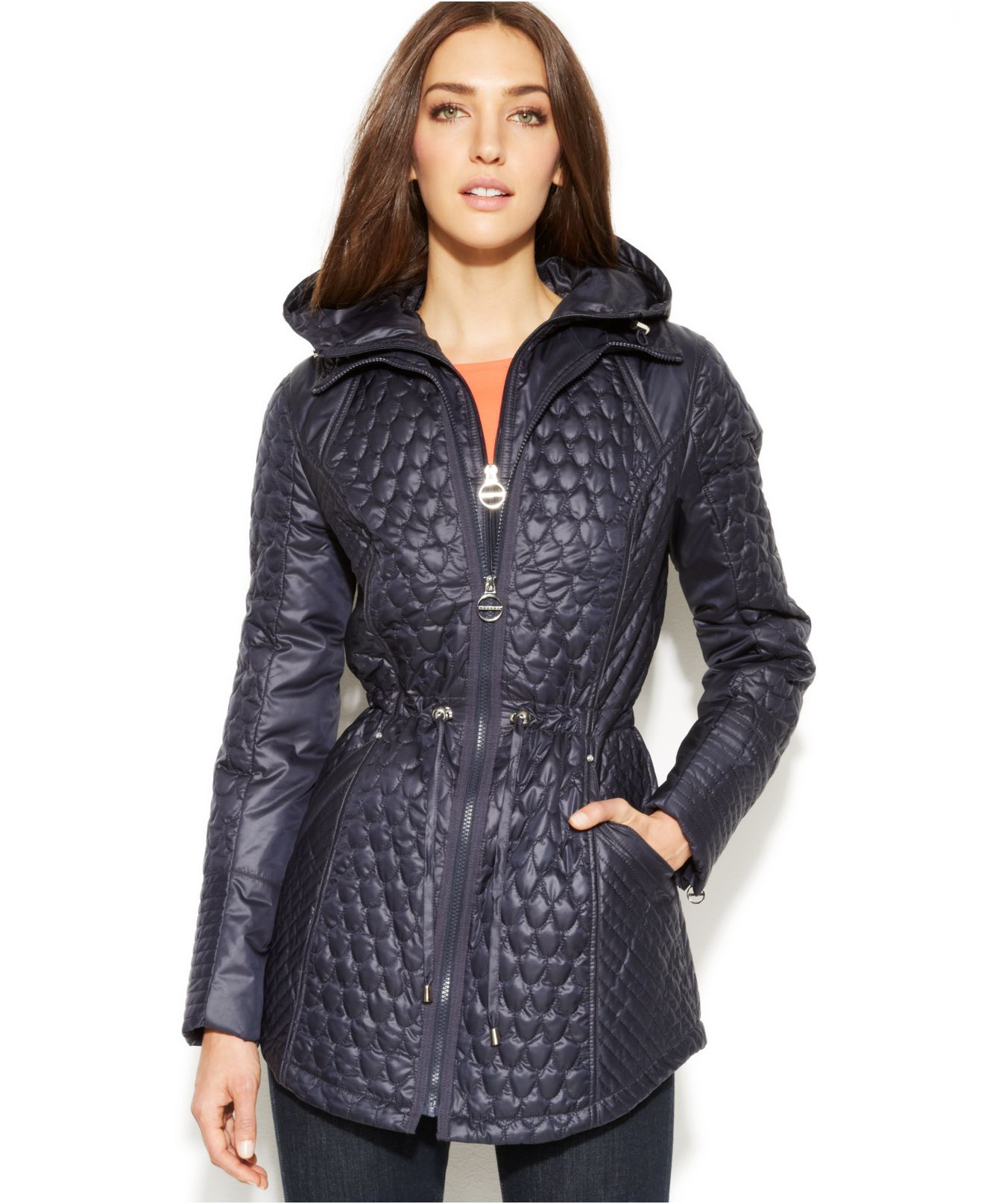 Laundry by shelli segal quilted jacket with hood