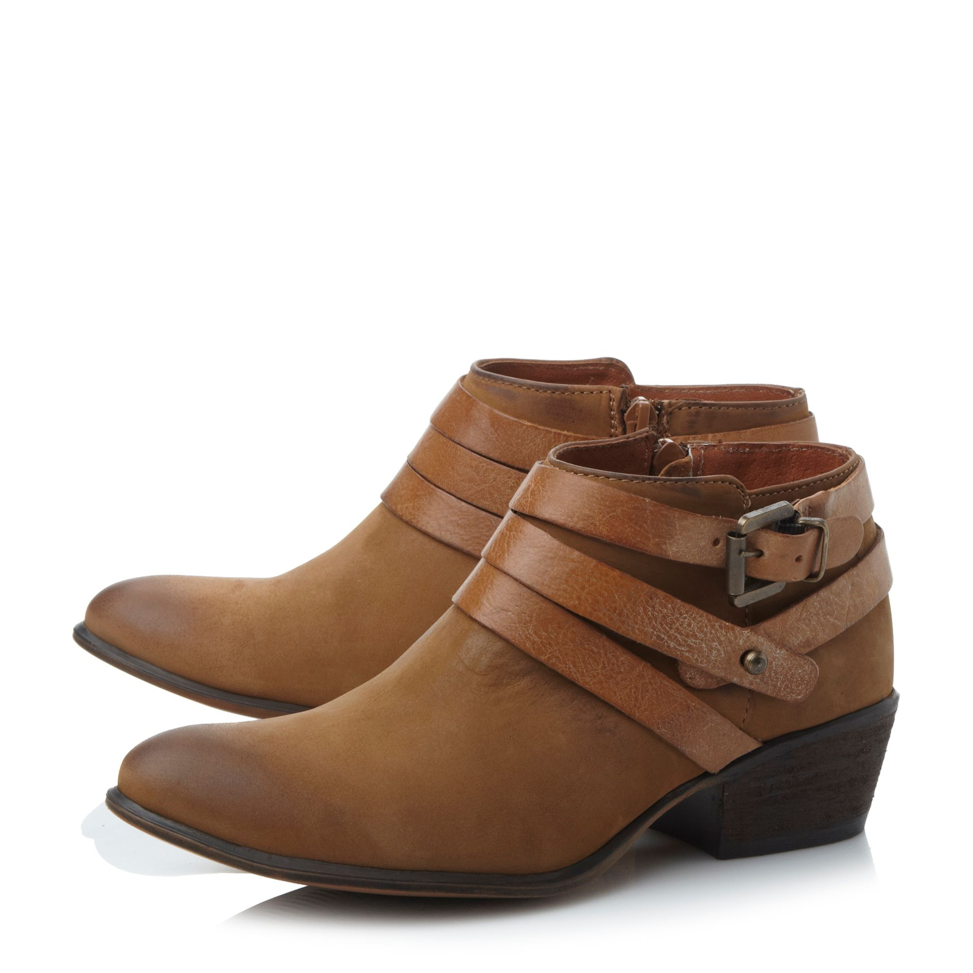 steve madden regennt cuban heel boot in brown lyst
