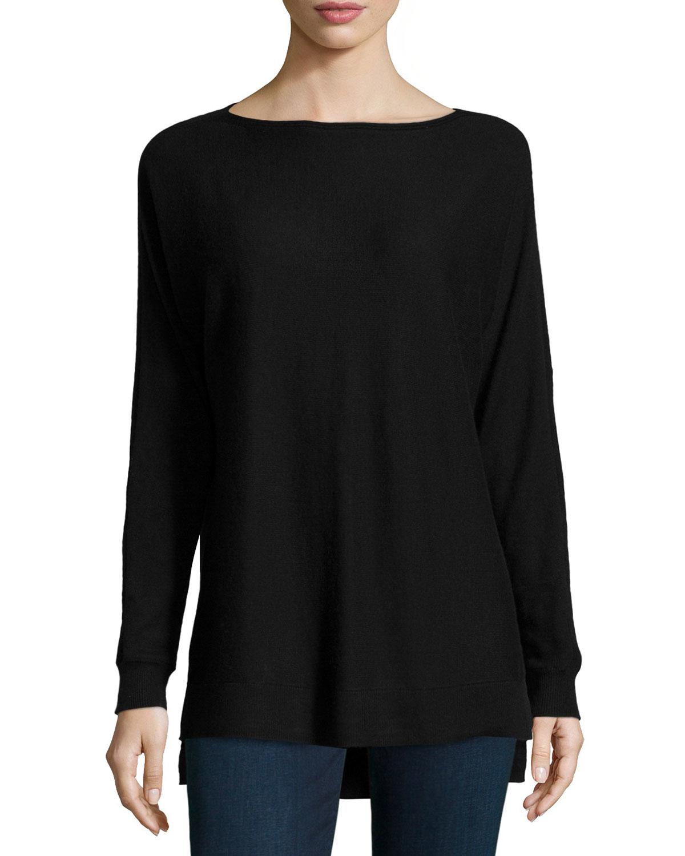 $45 Karen scott black plus size 3/4 sleeve boat neck pull over sweater top 2X.