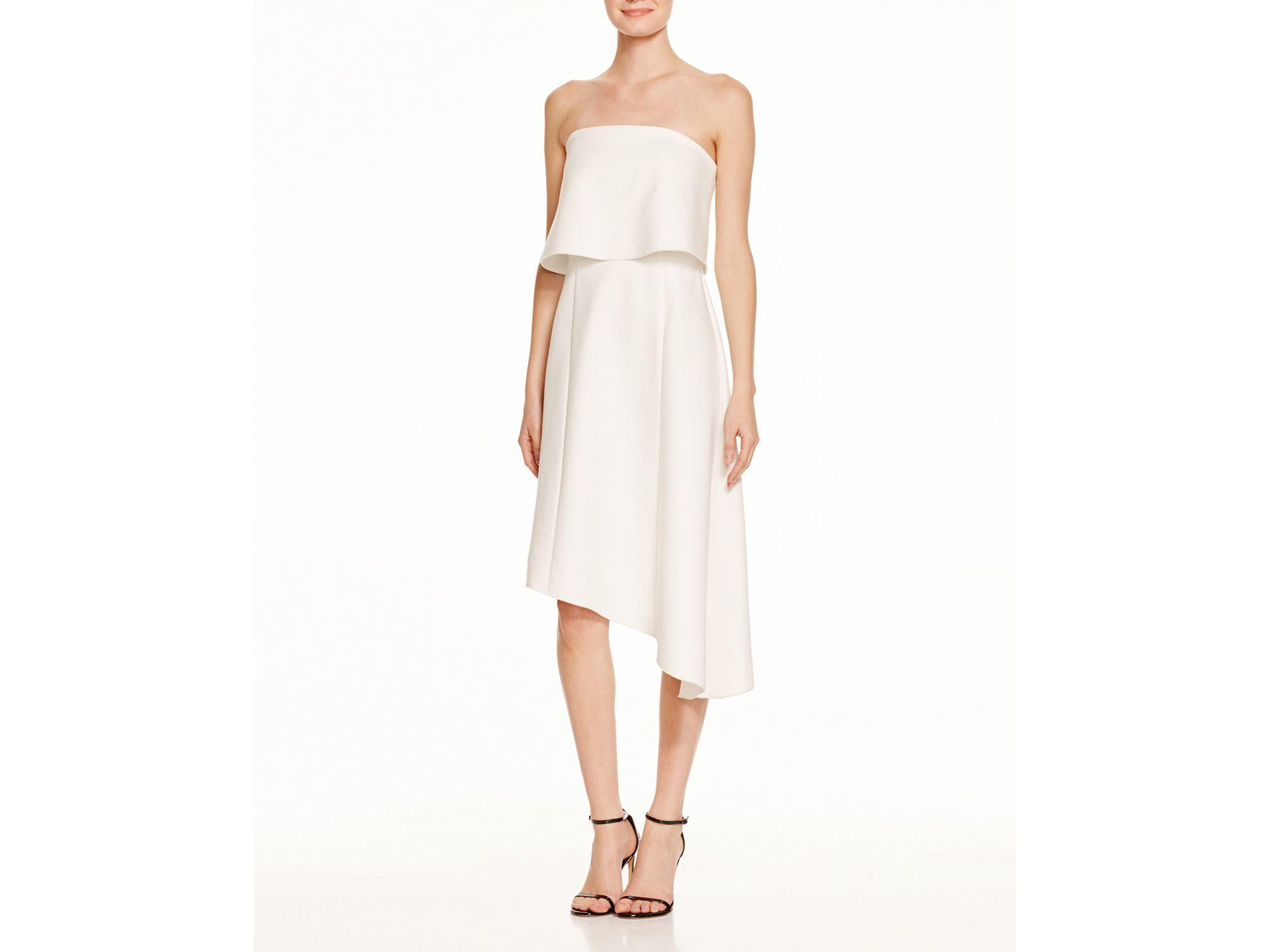 7e3126365c33f N Nicholas Strapless Overlay Dress in White - Lyst