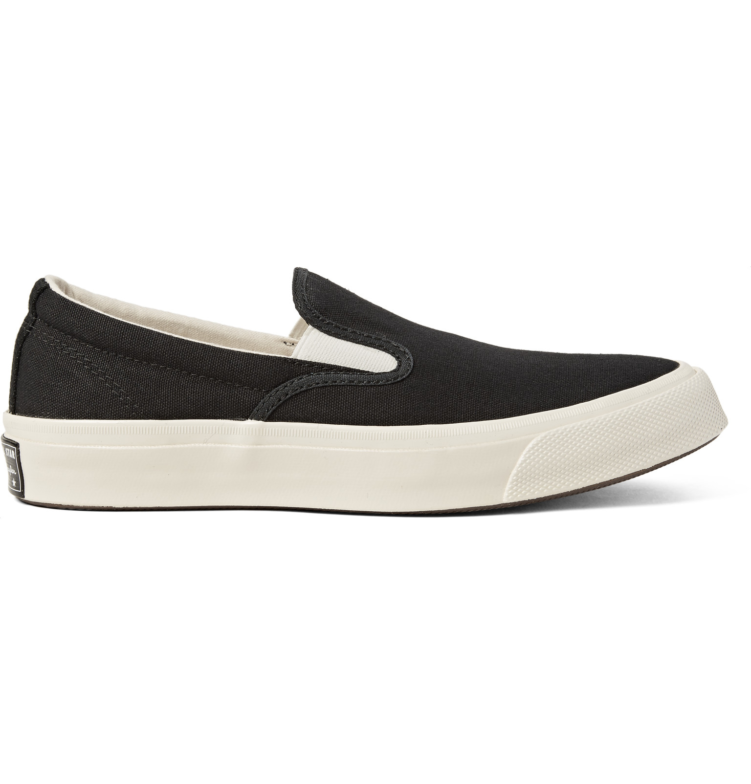 58b207f67a4269 Converse Deck Star  67 Canvas Slip-on Sneakers in Black for Men - Lyst
