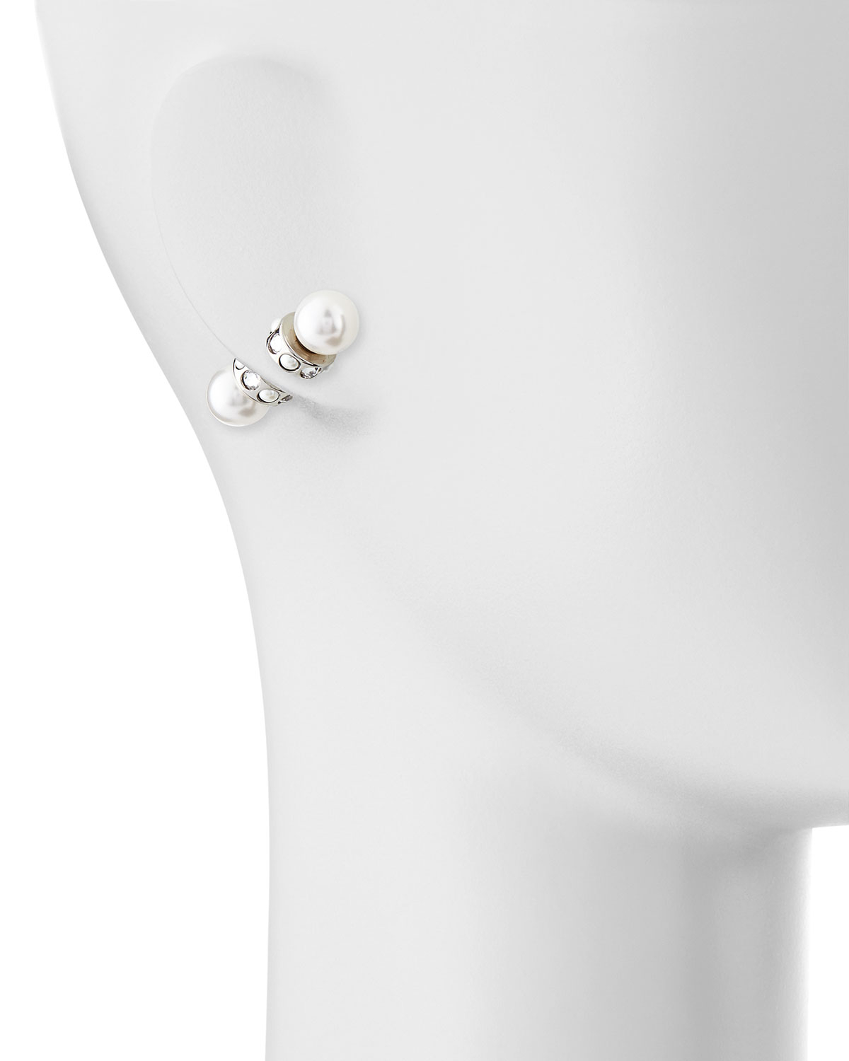 5cea70b51 Givenchy Magnetic Faux Pearl & Crystal Earrings in White - Lyst