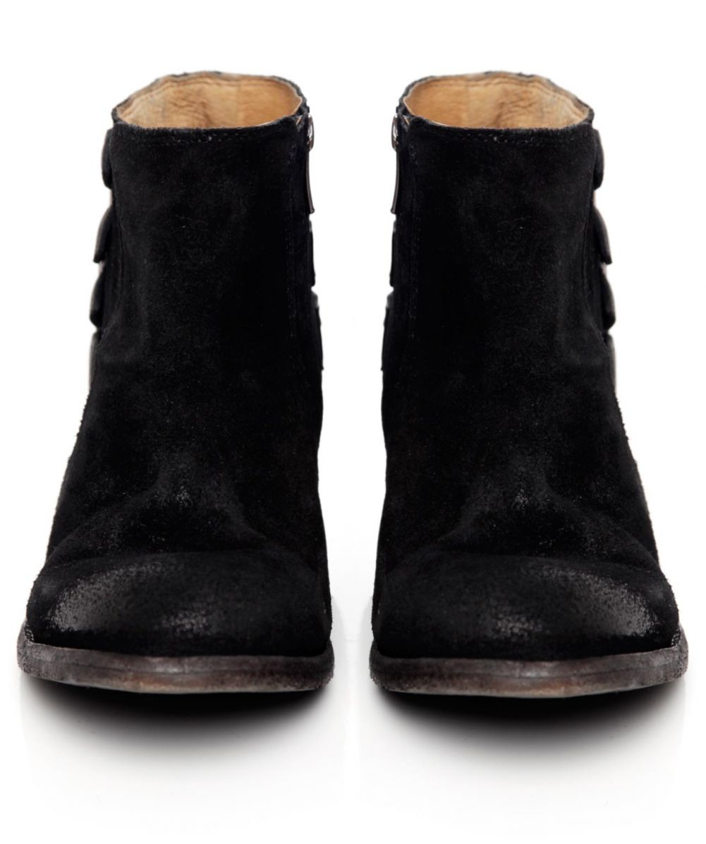 h by hudson suede encke boots in black for save 21