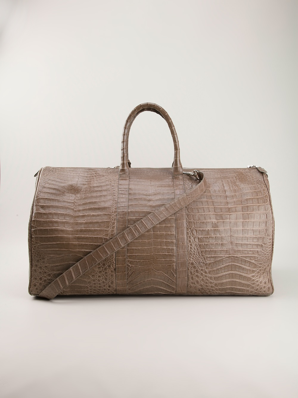 Lyst nancy gonzalez crocodile leather tote in gray for men for Nancy gonzalez crocodile tote