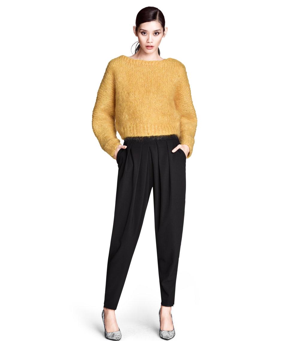 Lyst - Hu0026M Loose-fit Trousers in Black