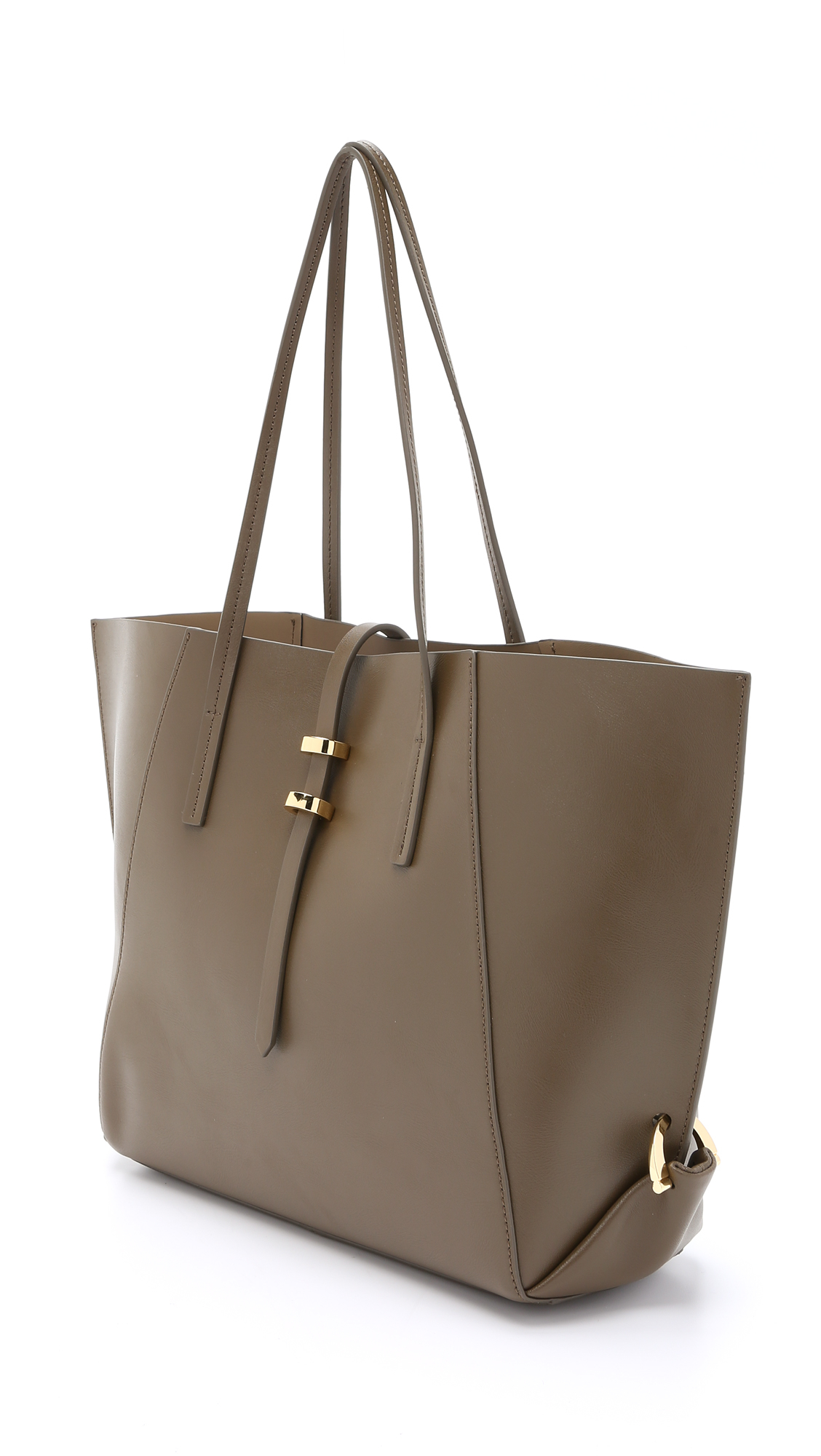 Lyst Zac Zac Posen Eartha Folded Gusset Tote Olive In