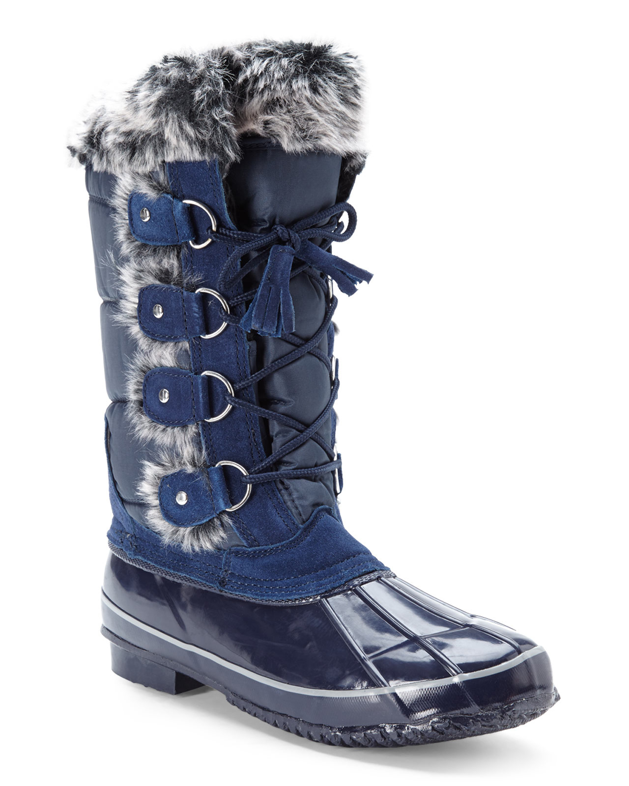 khombu navy beverly snow boots in blue lyst