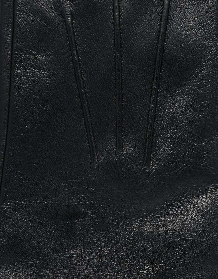 Black leather gloves lined with cashmere - Gallery Men S Leather Gloves
