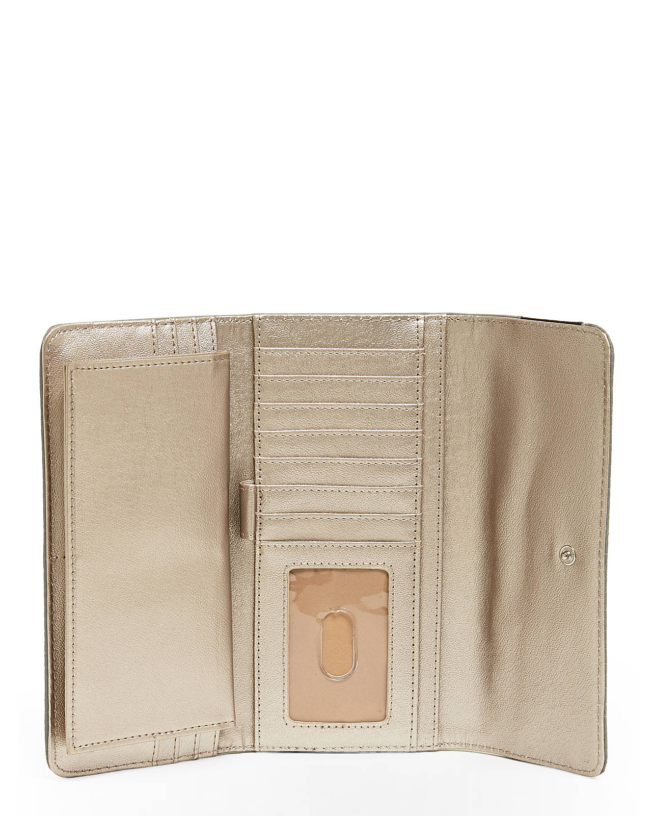 Lyst Nine West Grey Bristo Checkbook Wallet In Gray