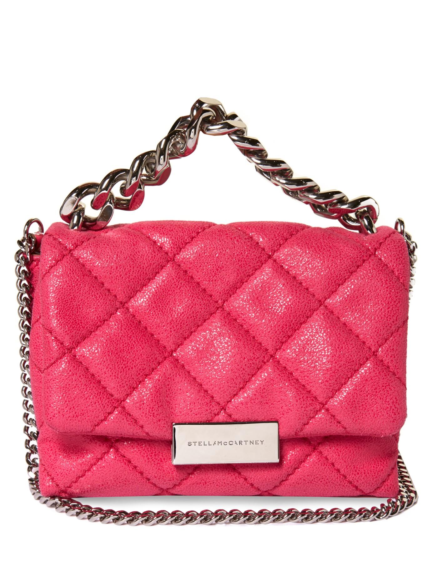 Lyst - Stella McCartney Beckett Mini Faux-suede Cross-body Bag in Pink 734e6b21a457a