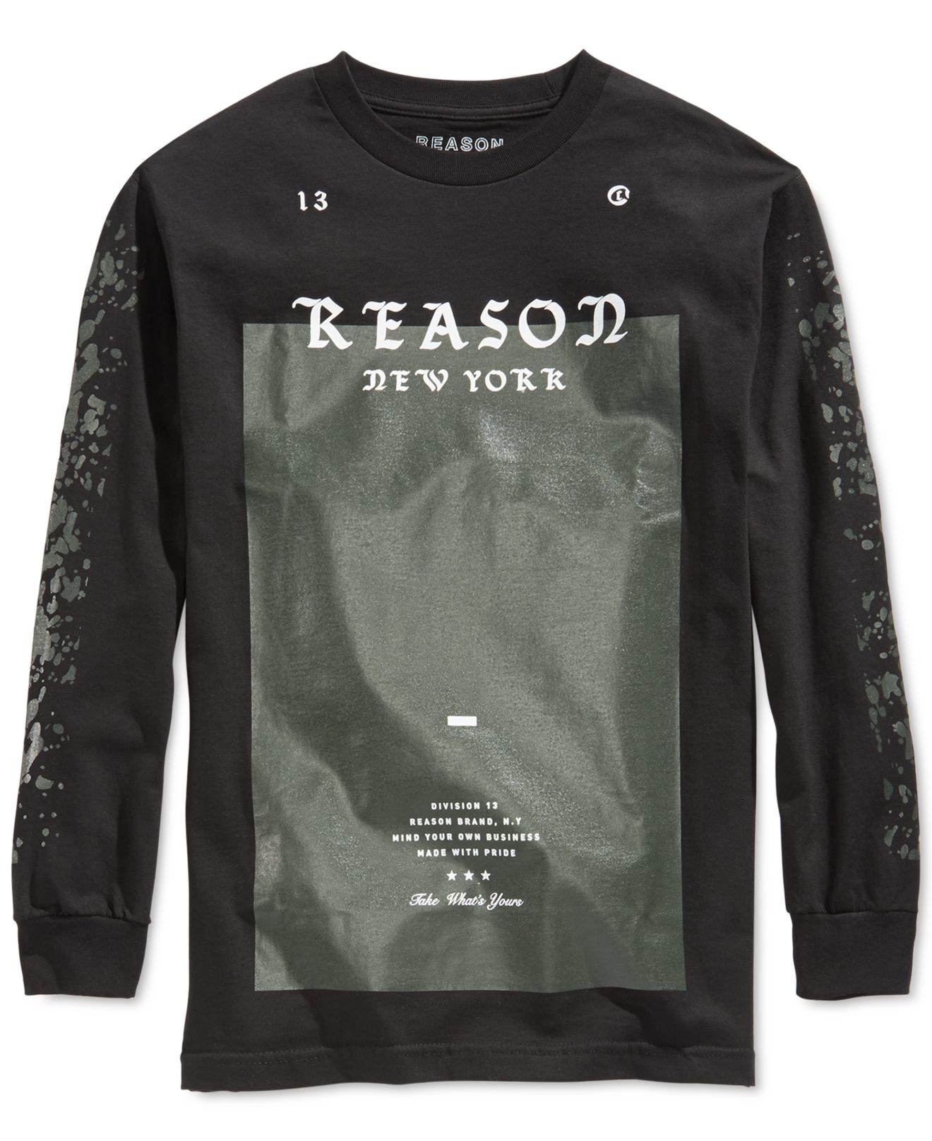 lyst reason mens logo tshirt in black for men