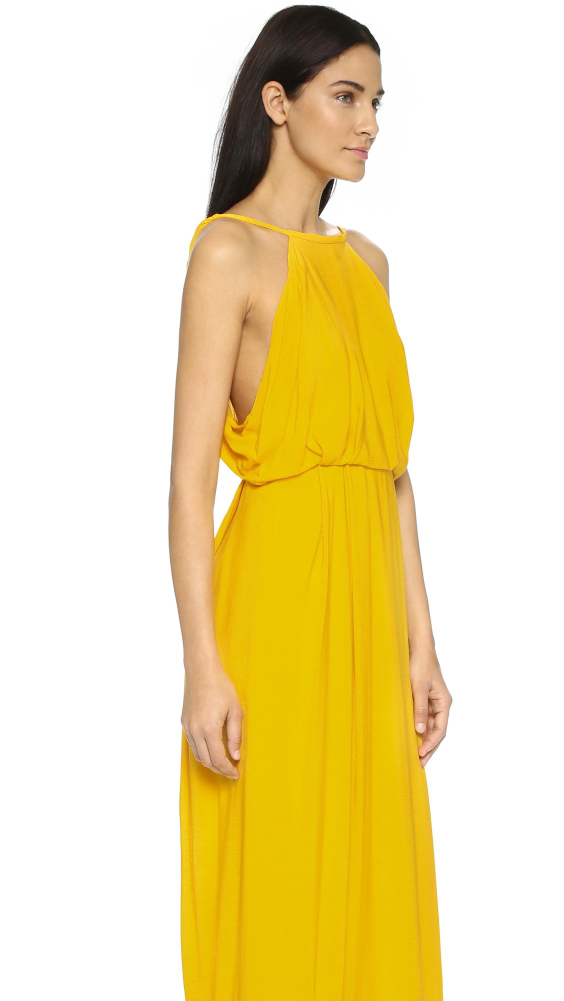 Lyst rachel comey token maxi dress tumeric in yellow gallery ombrellifo Images