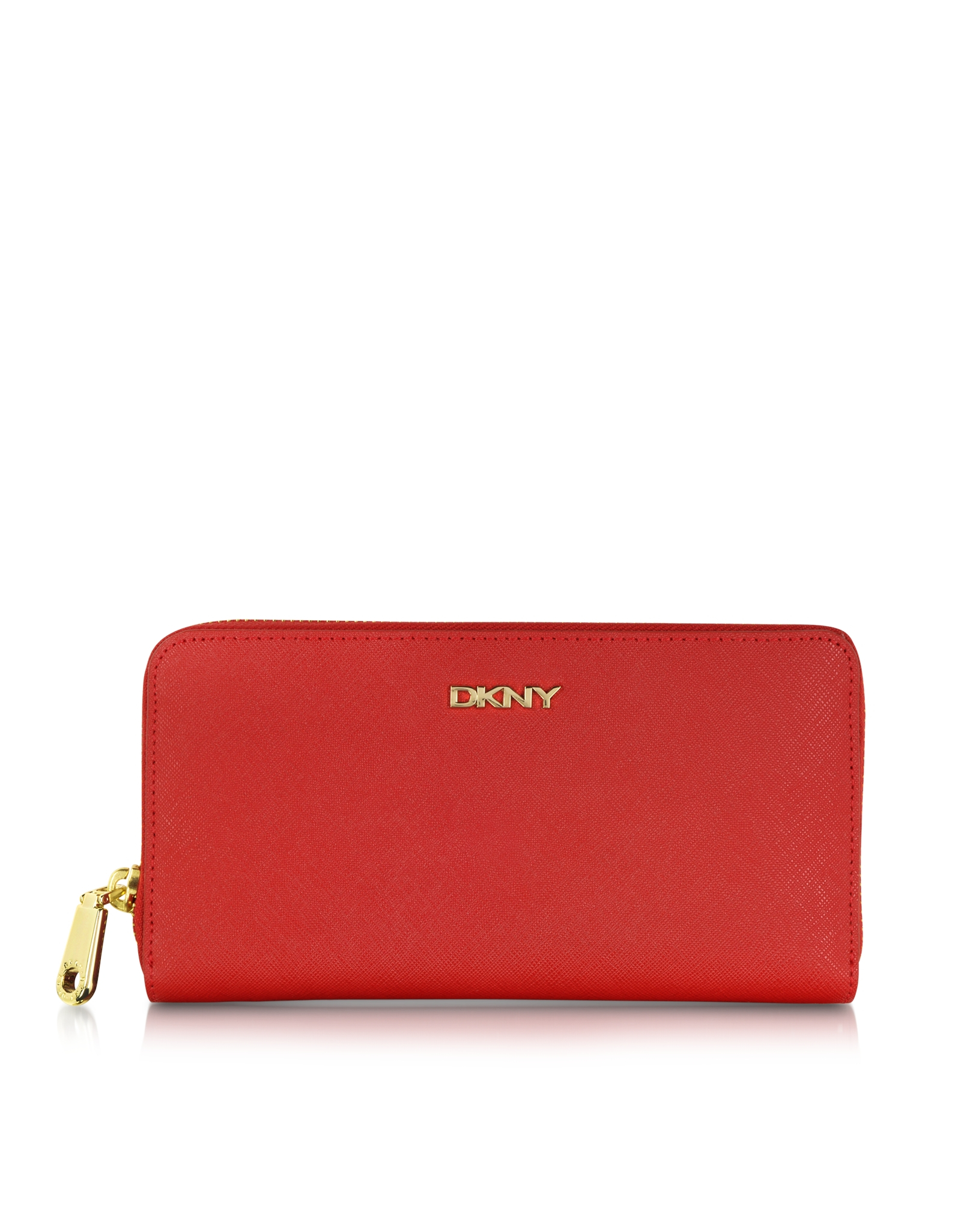 Dkny Saffiano Leather Large Zip Around Wallet in Red | Lyst |Dkny Wallet