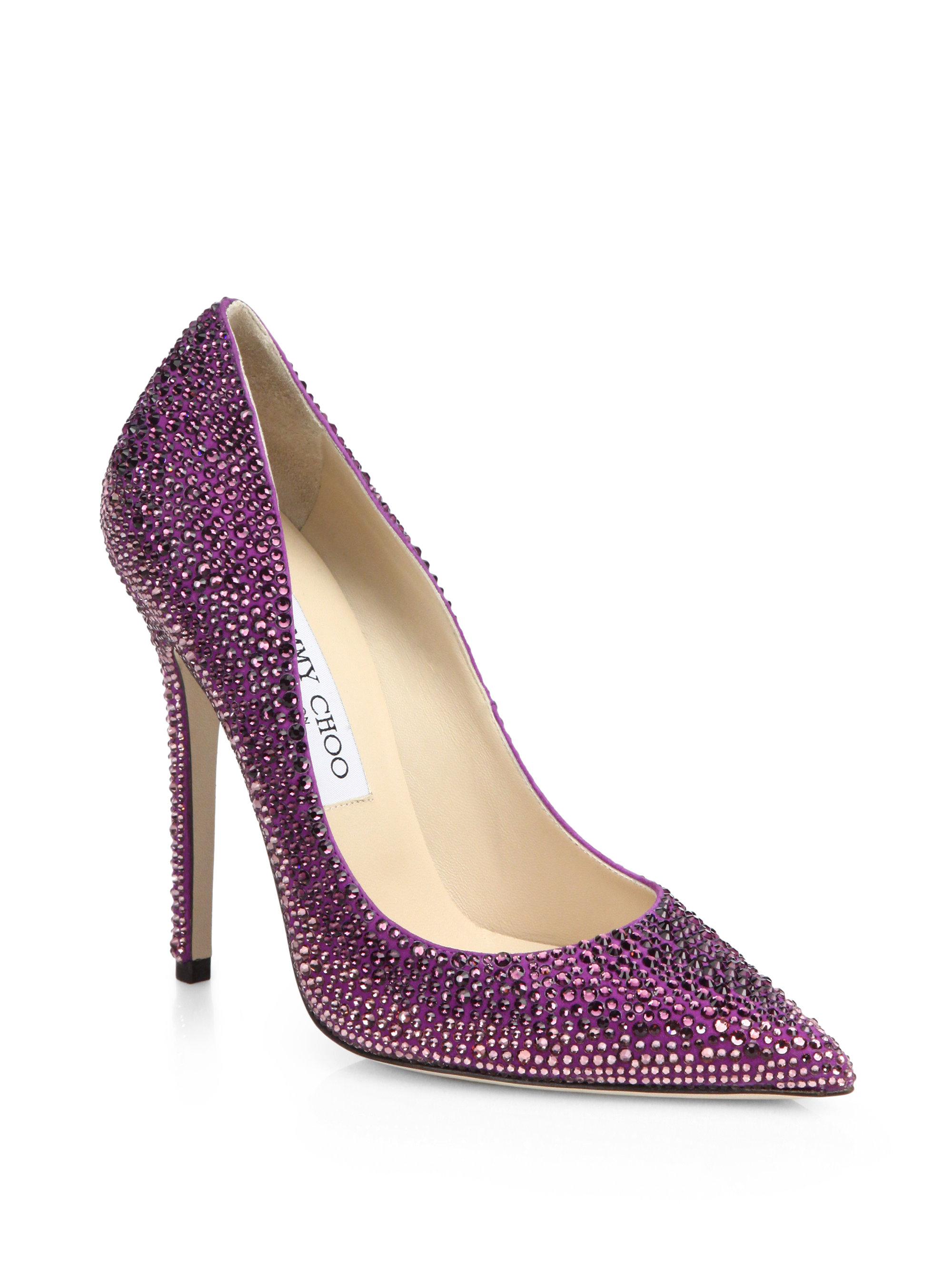 55e40ca0e370 ... release date lyst jimmy choo tartini degradé swarovski crystal covered  pumps in 6fa06 d9e4f