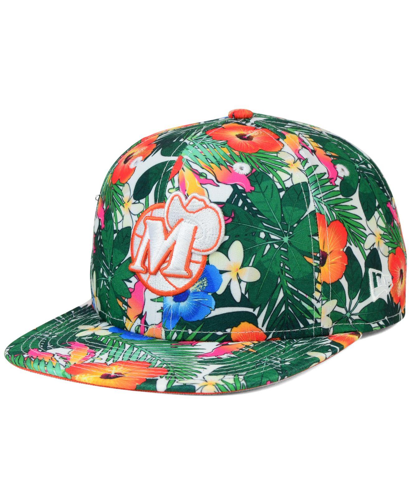 hot sale online 97119 ad63c Lyst - KTZ Dallas Mavericks Hwc Light Floral 9fifty Snapback Cap in ...