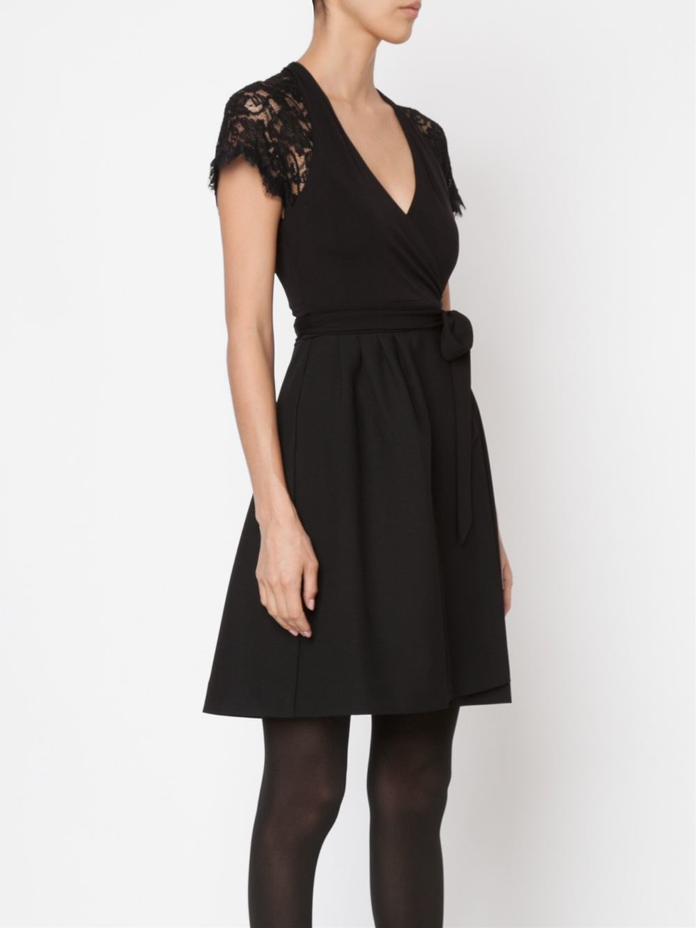 Lyst diane von furstenberg 39 elizabeth 39 wrap dress in black for Diane von furstenberg clothes