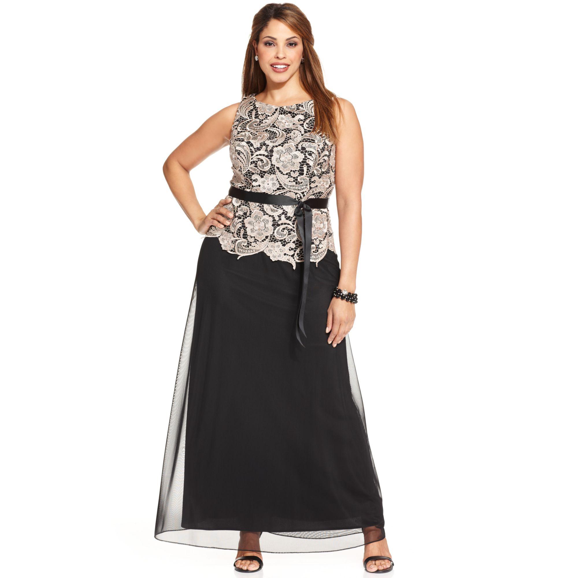 alex evenings plus size dress choice image - dresses design ideas