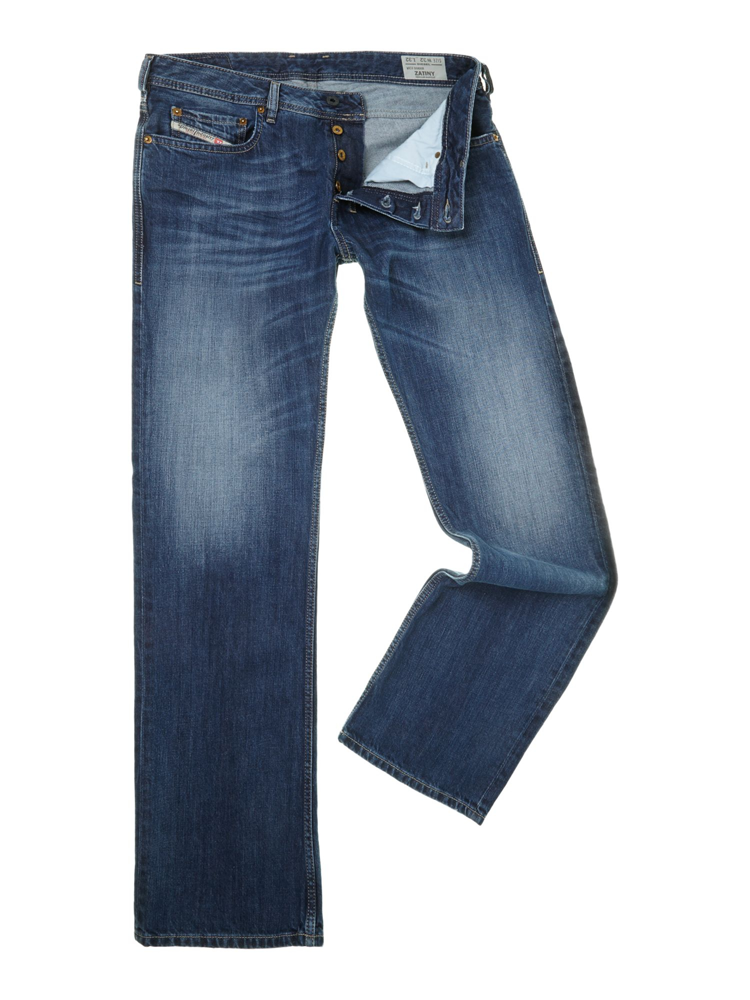 Diesel Zatiny 8xr Bootcut Jeans in Blue for Men | Lyst