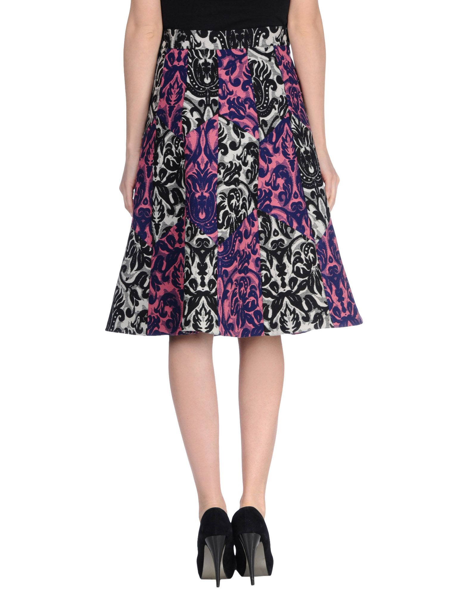 paul smith knee length skirt in floral light purple lyst