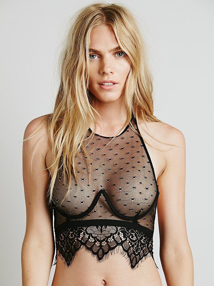 6b53a4f94e Free People Skivvies By For Love   Lemons Womens Vixen Halter Bra in ...