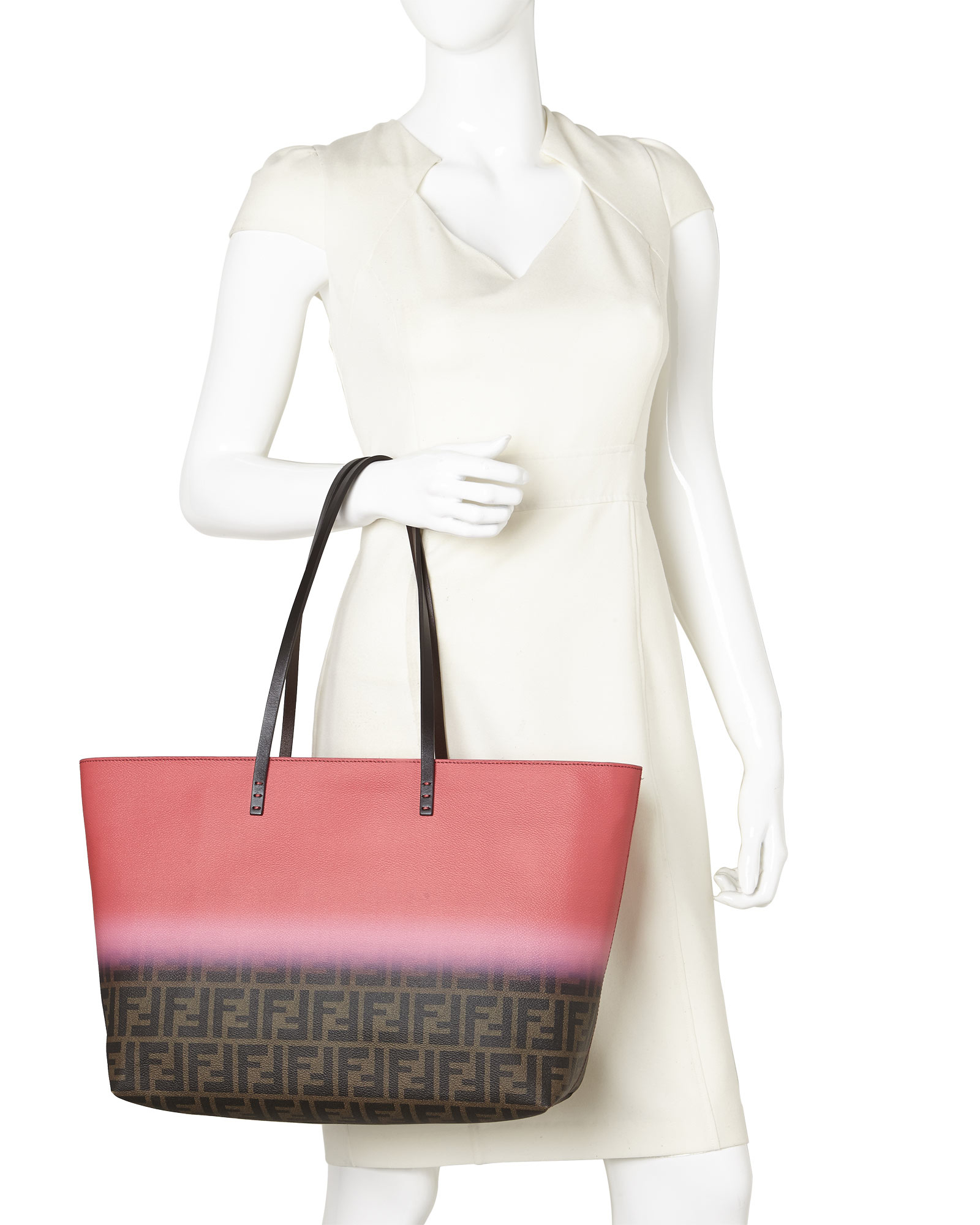 37557 d12ba  germany lyst fendi zucca ombr large roll tote in red 4b114  63a82 77b2fe70c9d65