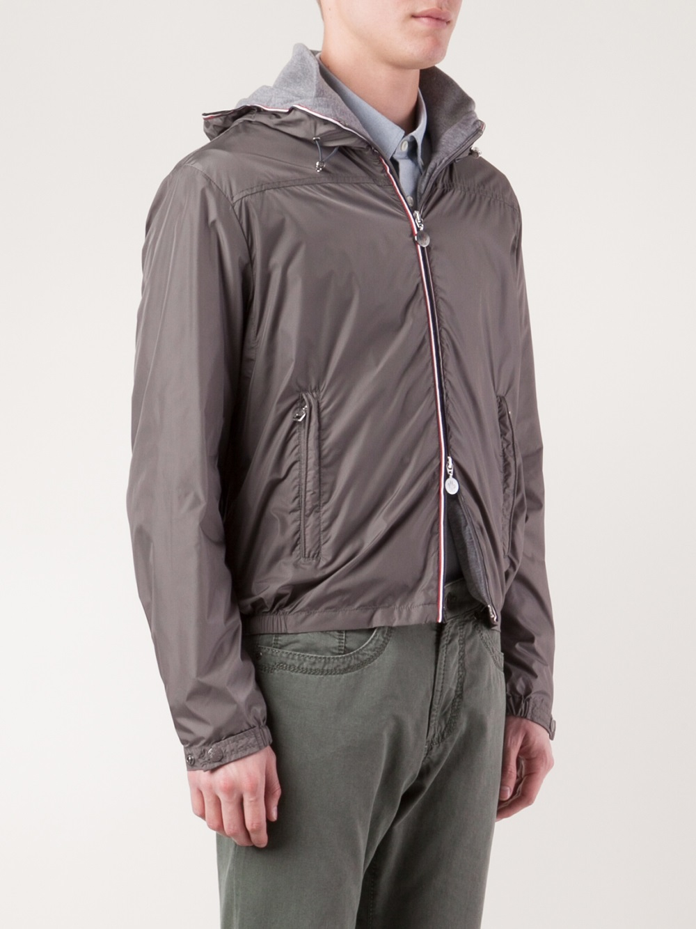 moncler grey windbreaker