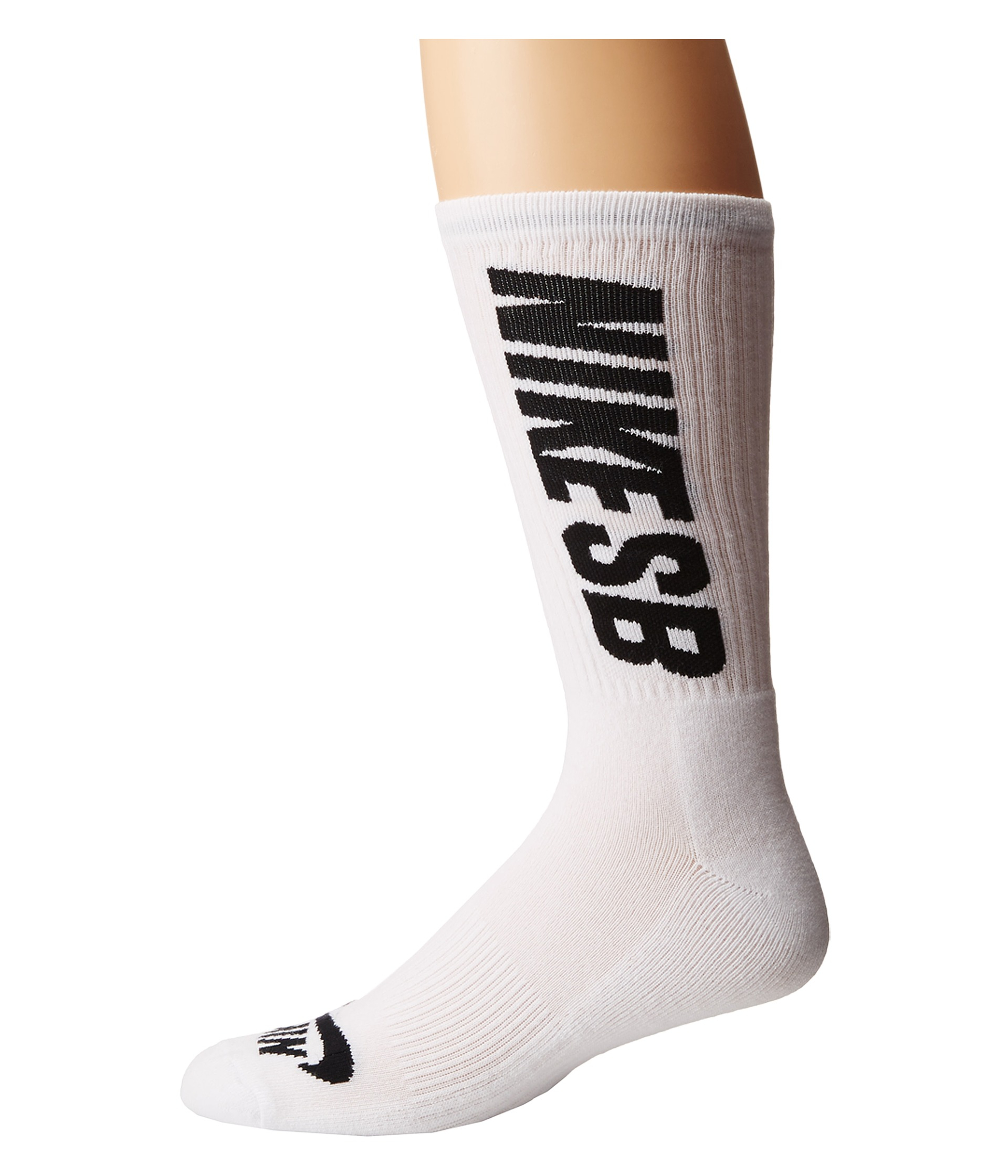 nike sb sb 3 pack crew socks in white for men white black. Black Bedroom Furniture Sets. Home Design Ideas
