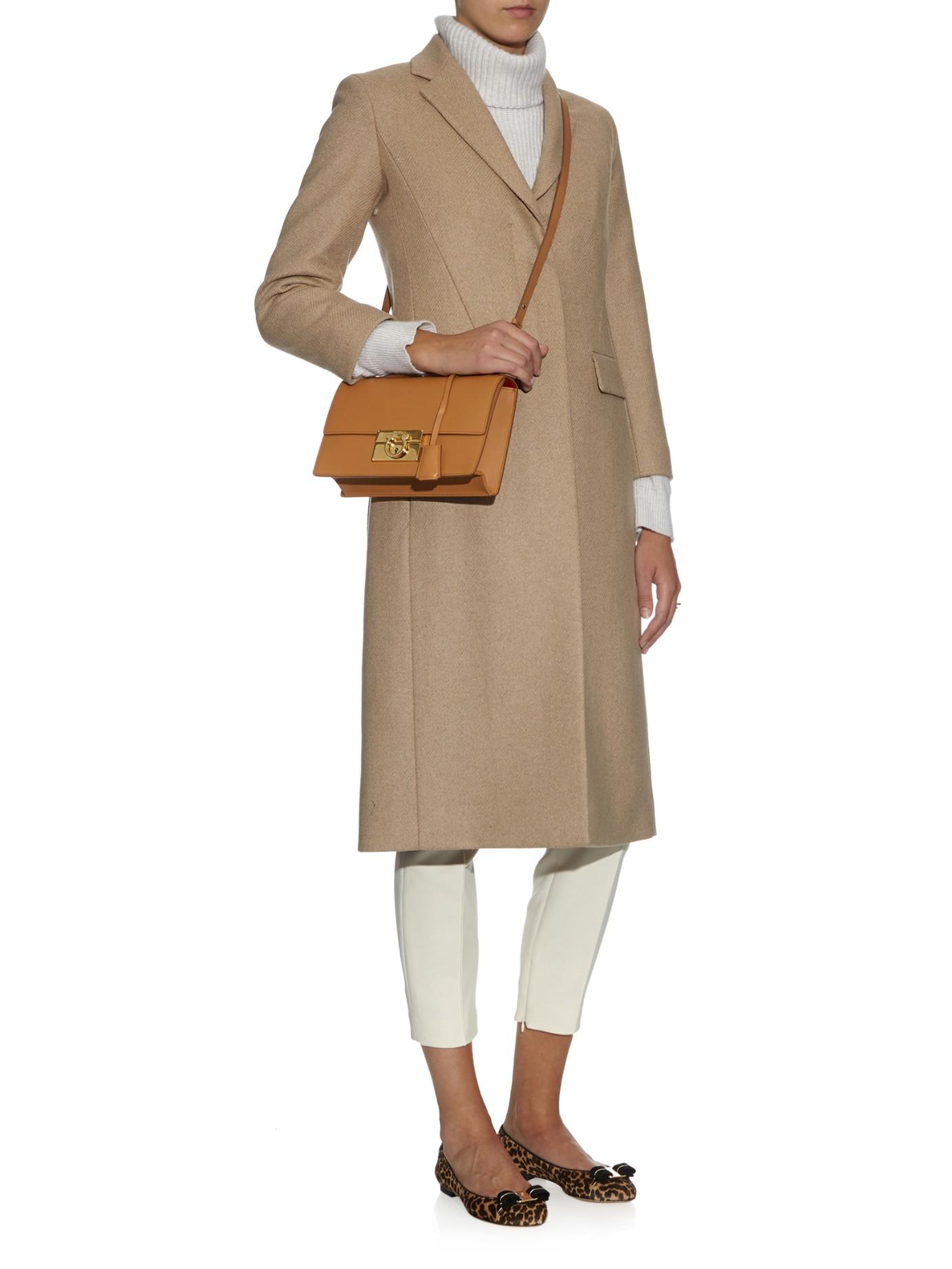 dd9c088008dd Ferragamo Aileen Medium Leather Cross-Body Bag in Brown - Lyst