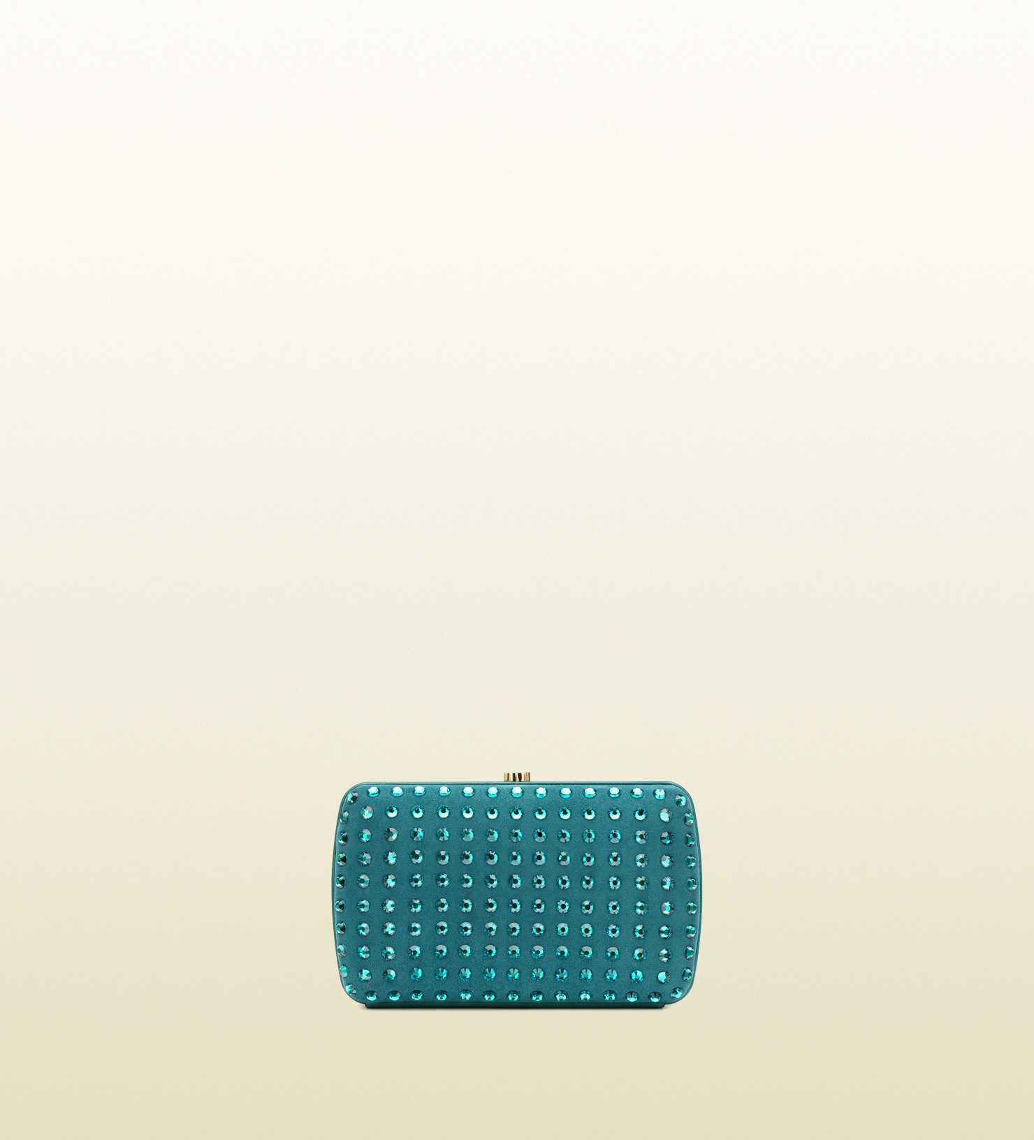 6f53bbb6435bca Gucci Broadway Suede Evening Clutch with Crystal Studs in Green - Lyst