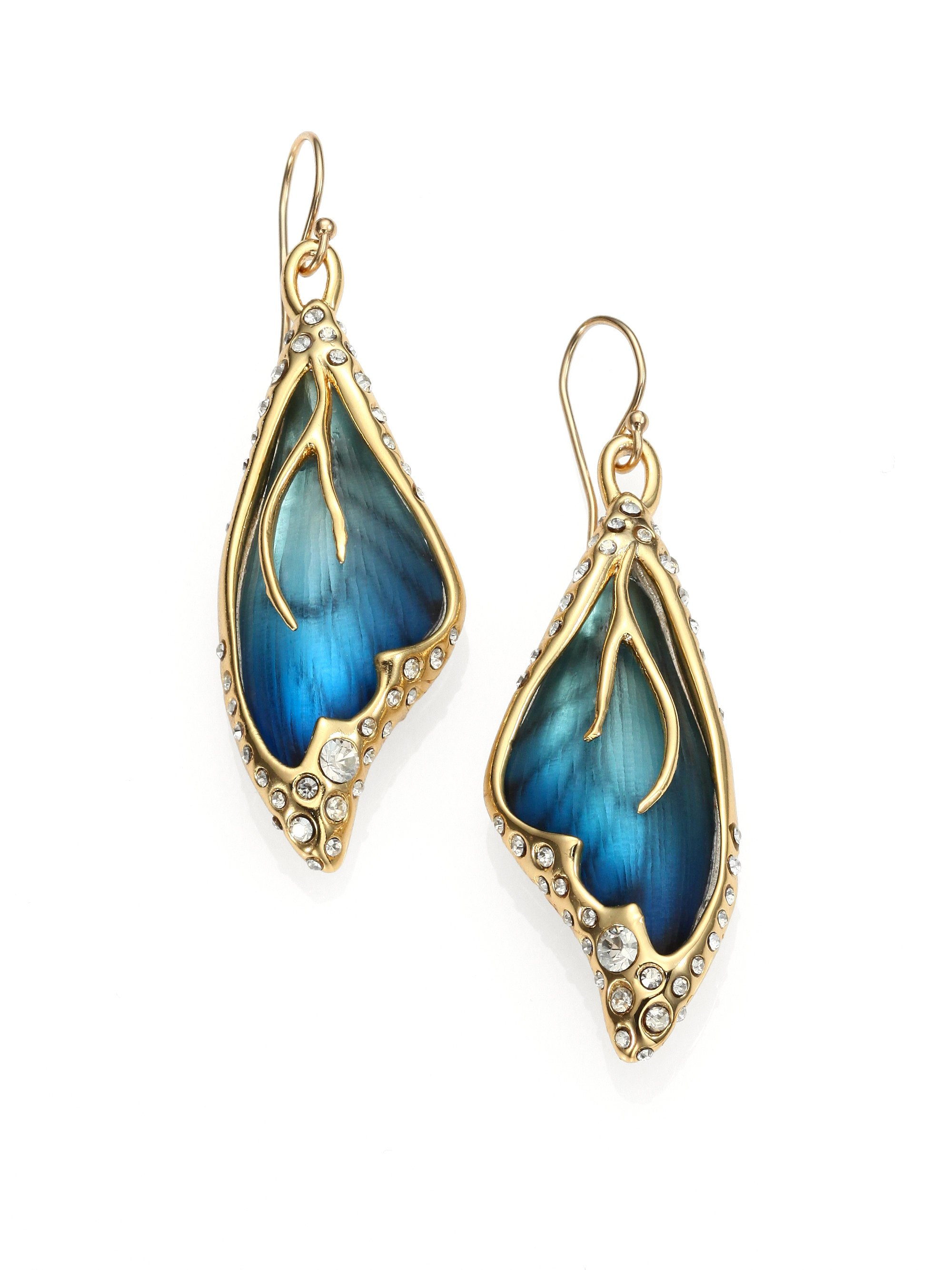 Alexis Bittar Triple Lucite Drop Earrings T52Jlt